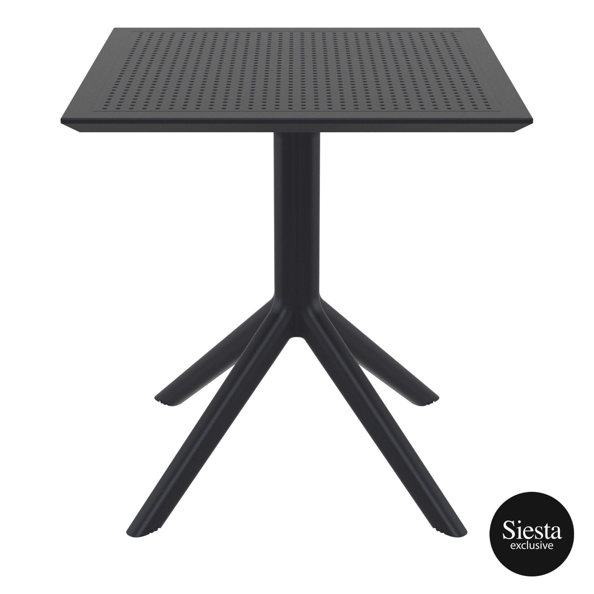 polypropylene outdoor cafe sky table 70 black front 1