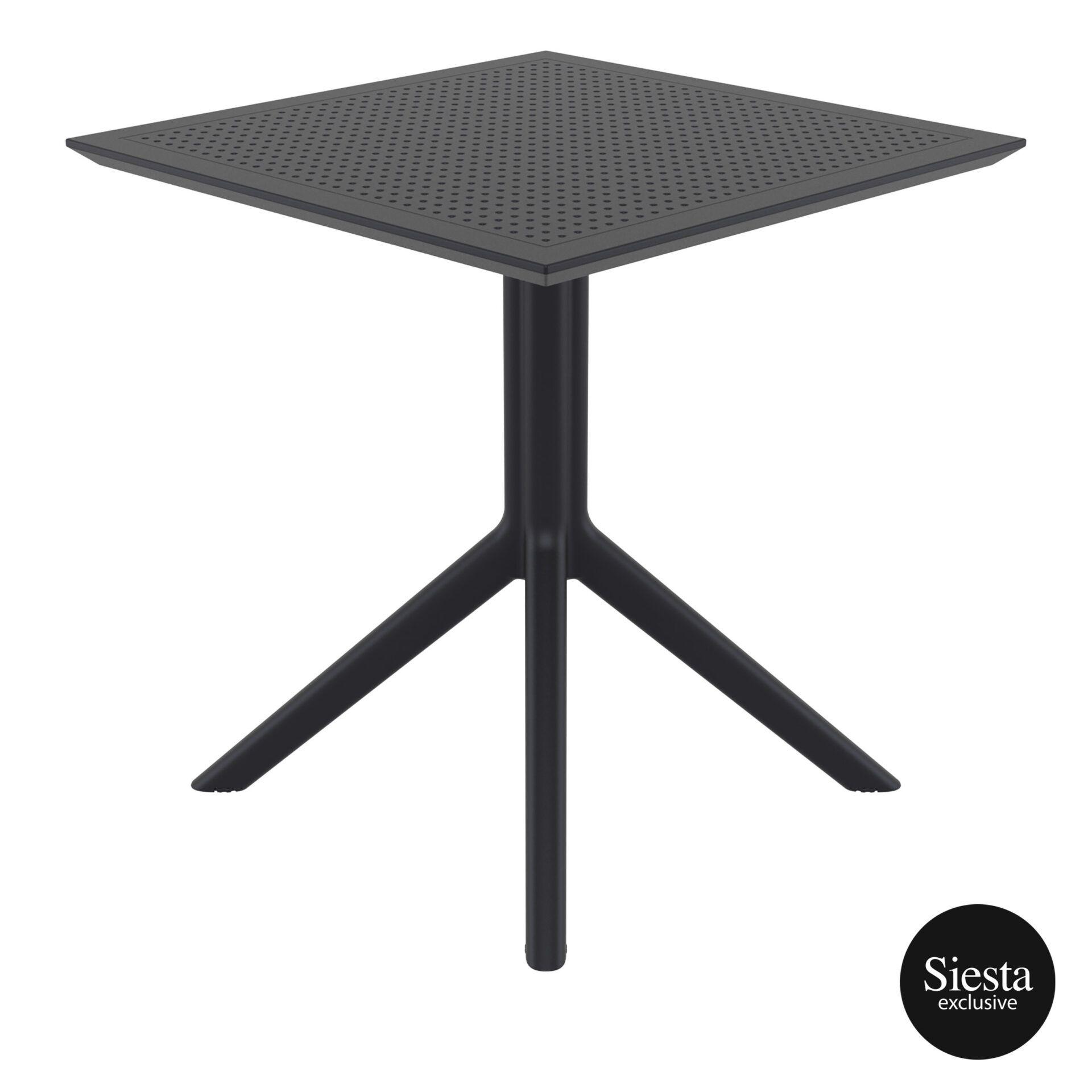 polypropylene outdoor cafe sky table 70 black side 1