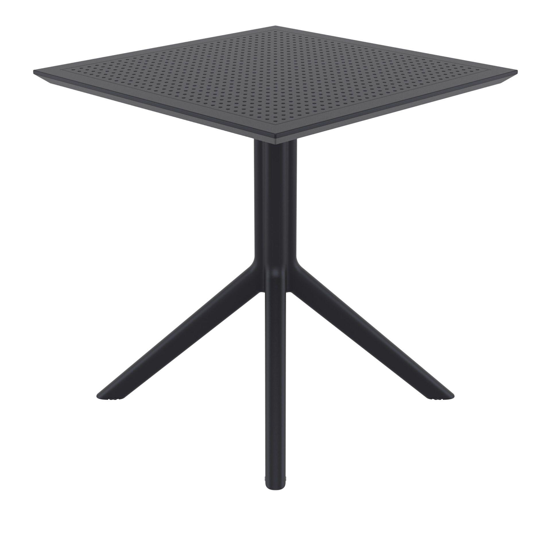 polypropylene outdoor cafe sky table 70 black side