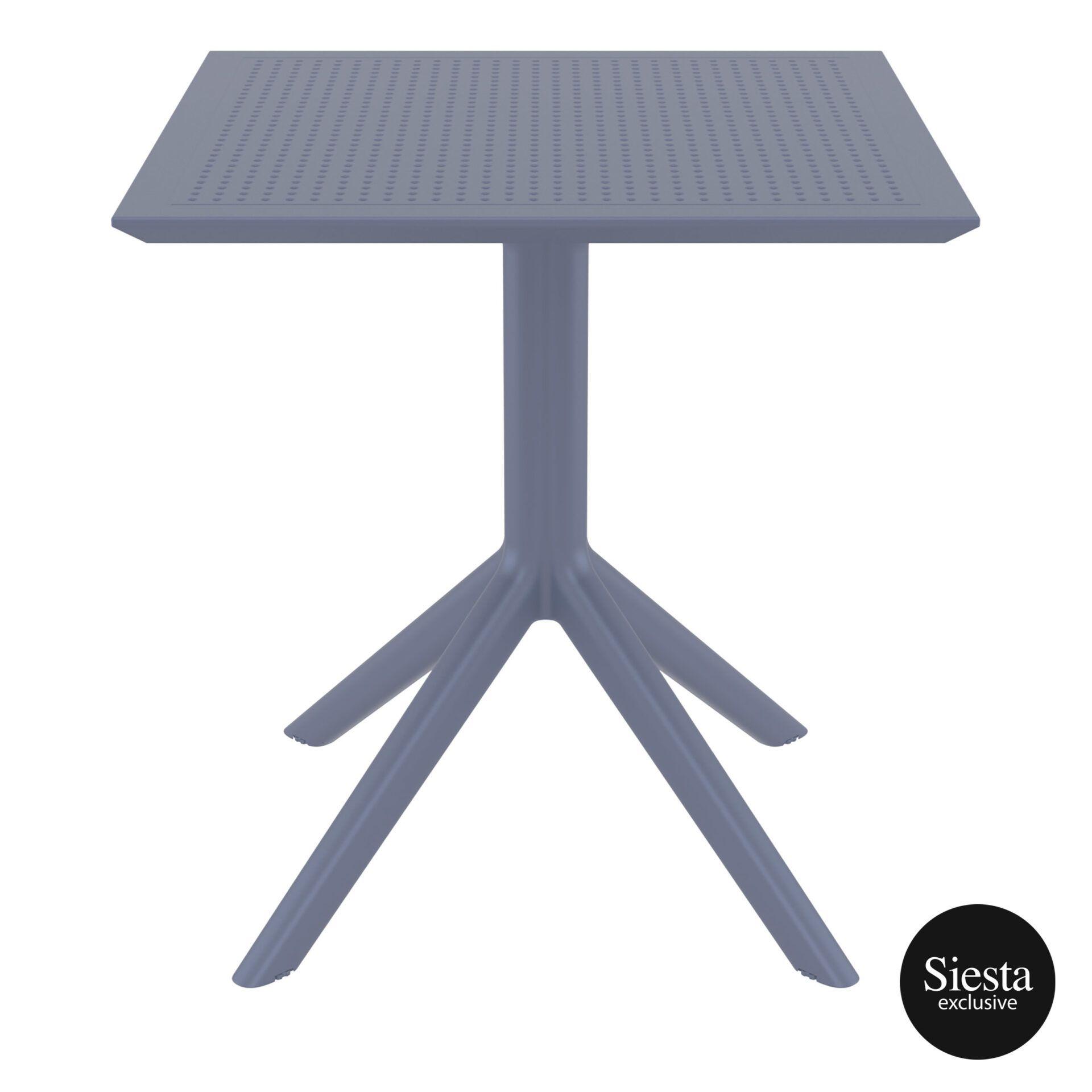 polypropylene outdoor cafe sky table 70 darkgrey front 1