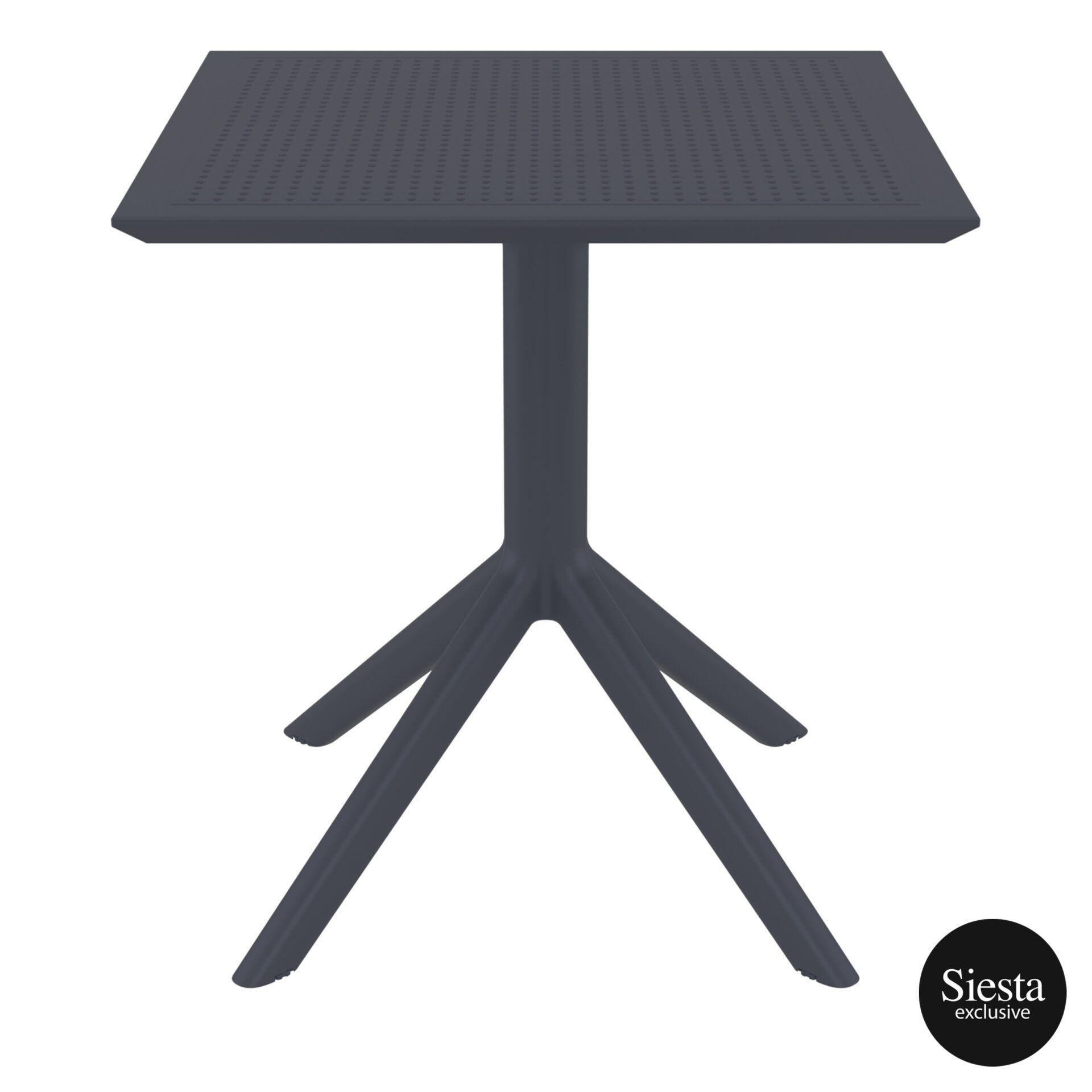 polypropylene outdoor cafe sky table 70 darkgrey front 2