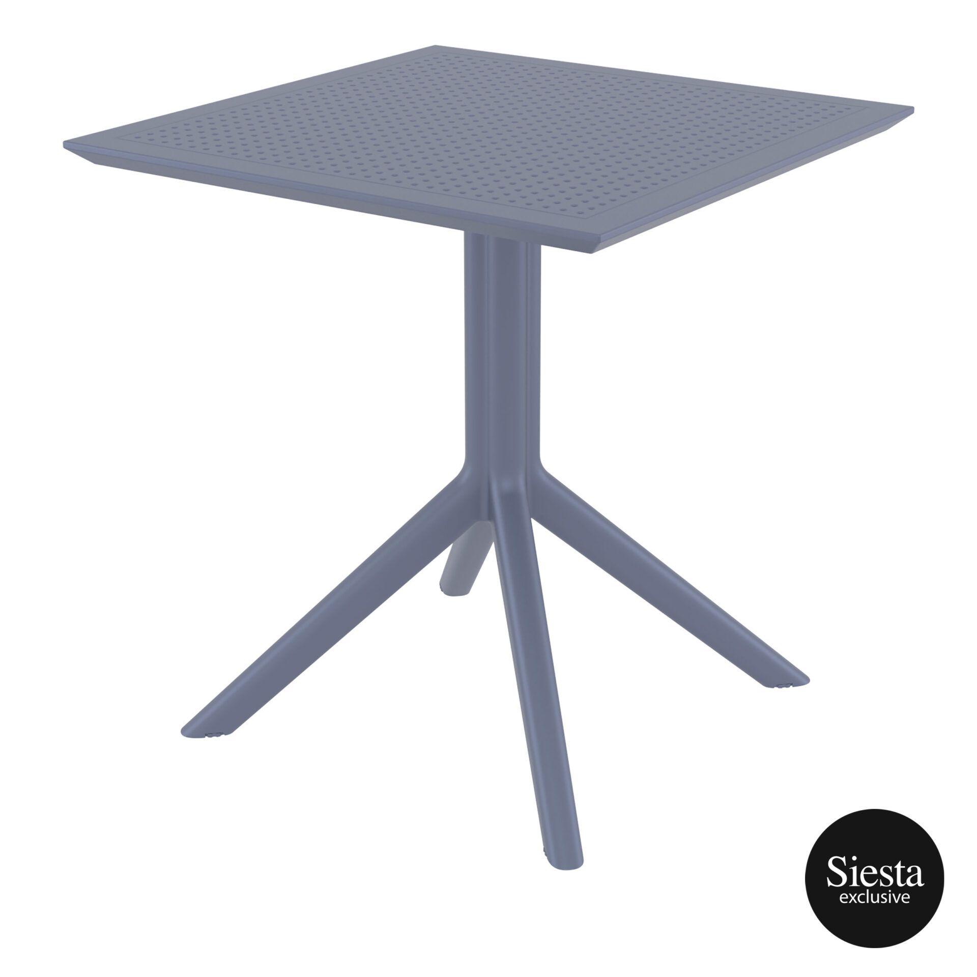 polypropylene outdoor cafe sky table 70 darkgrey front side 1