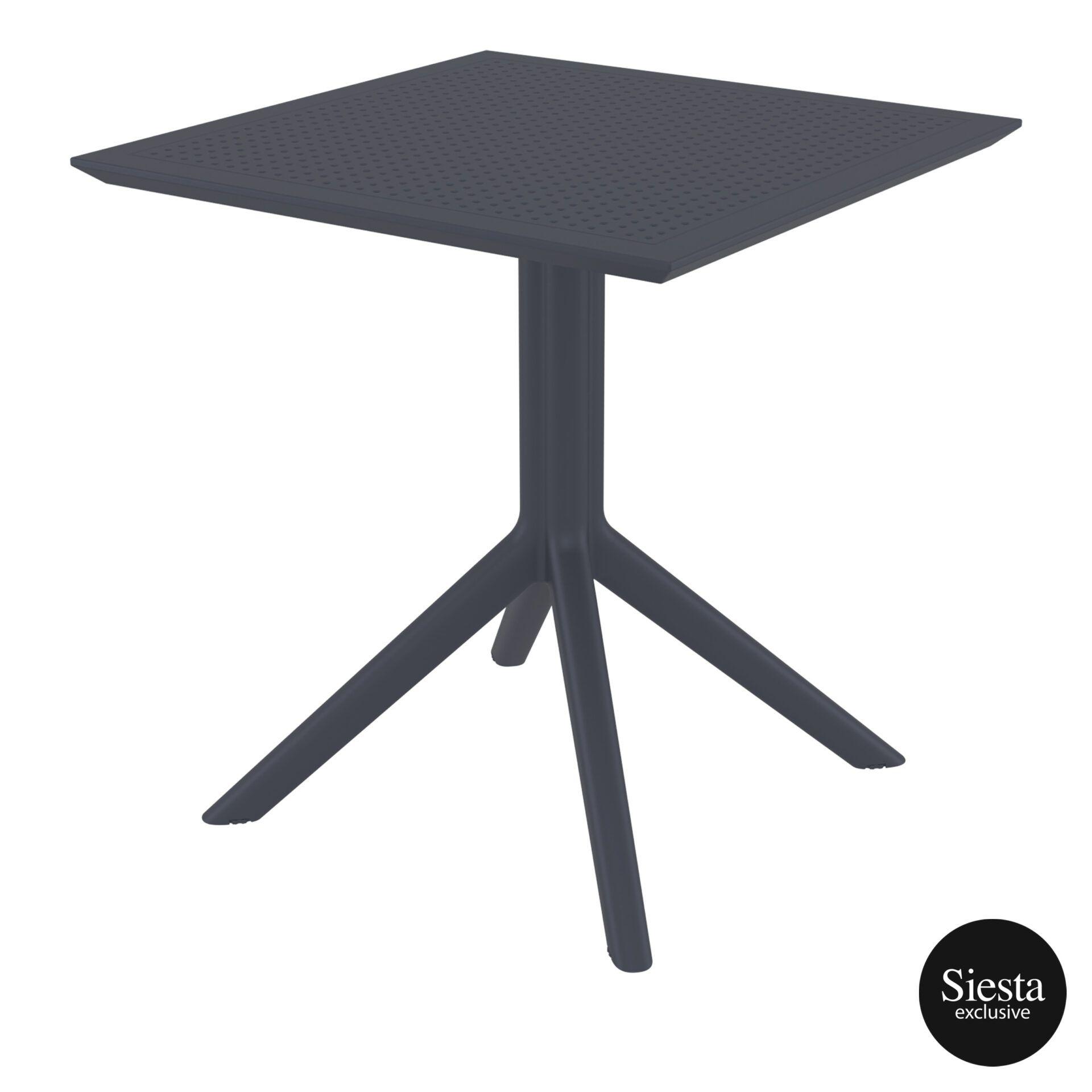 polypropylene outdoor cafe sky table 70 darkgrey front side 2