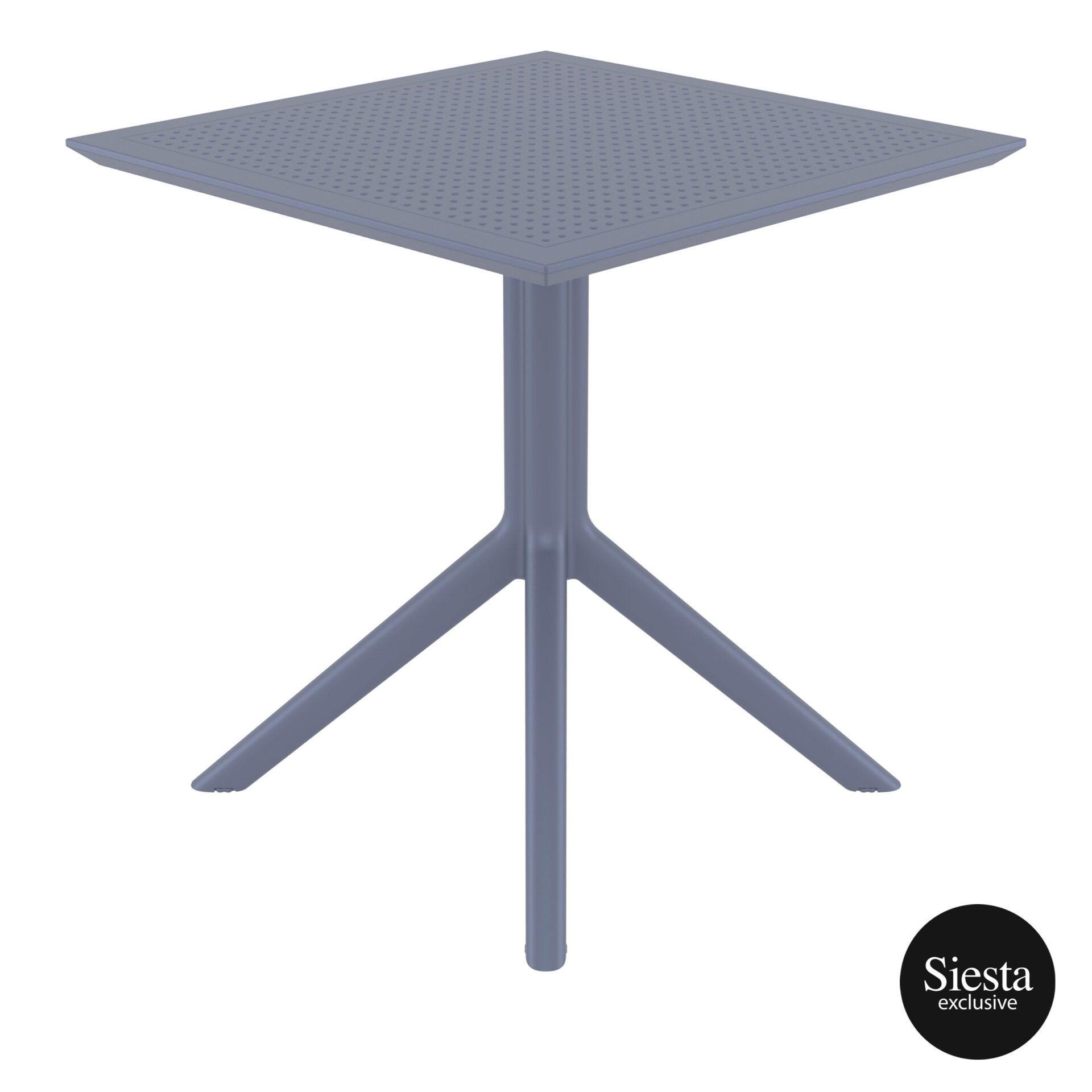 polypropylene outdoor cafe sky table 70 darkgrey side 1