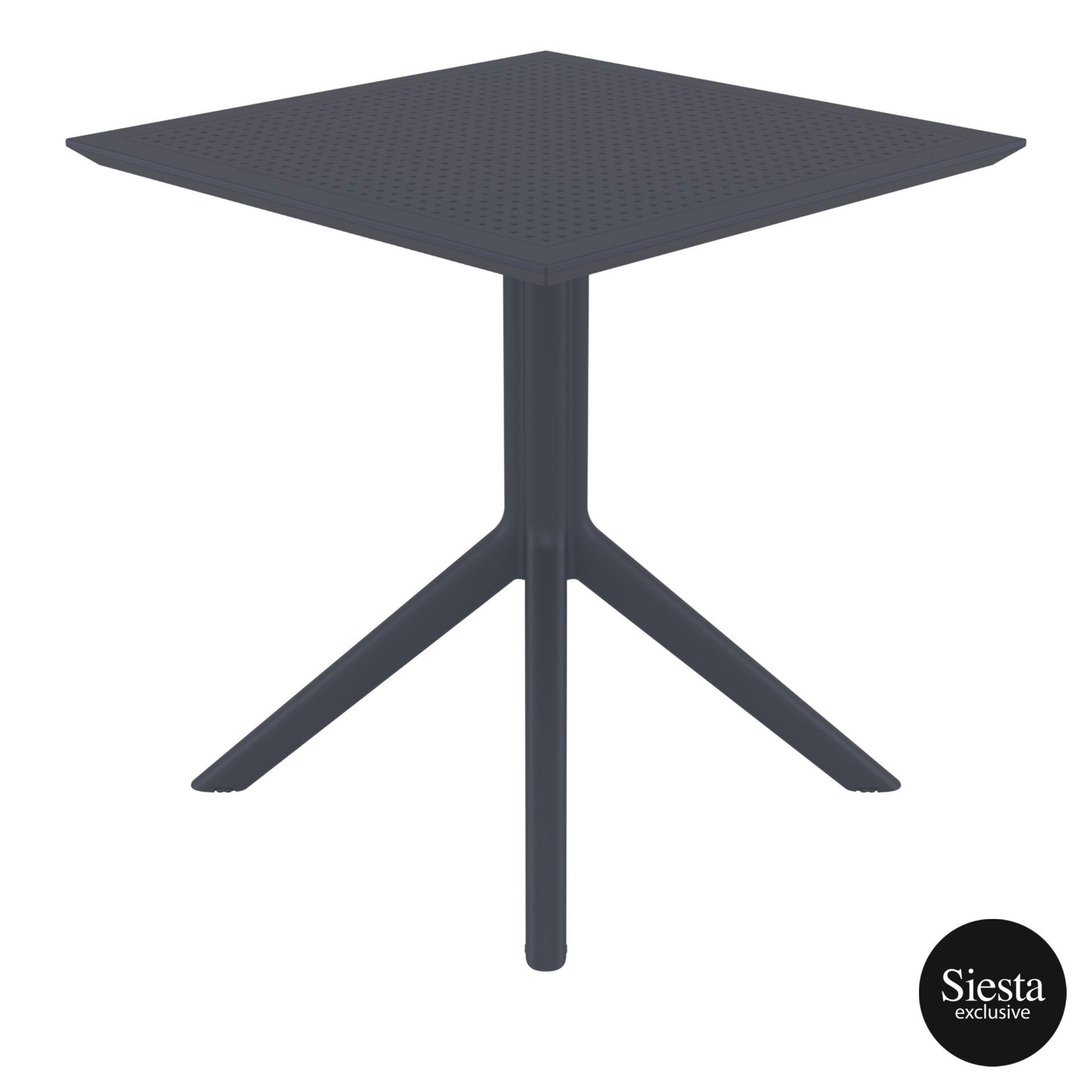 polypropylene outdoor cafe sky table 70 darkgrey side 2