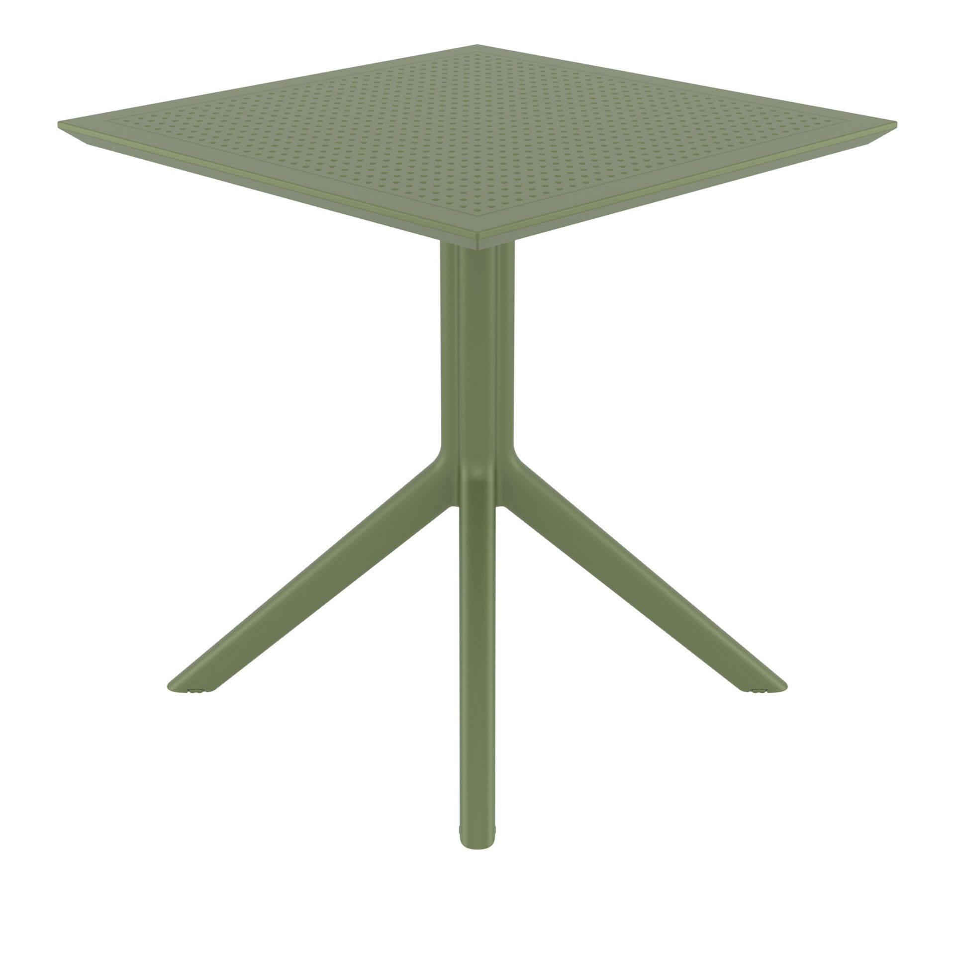 polypropylene outdoor cafe sky table 70 olive green side