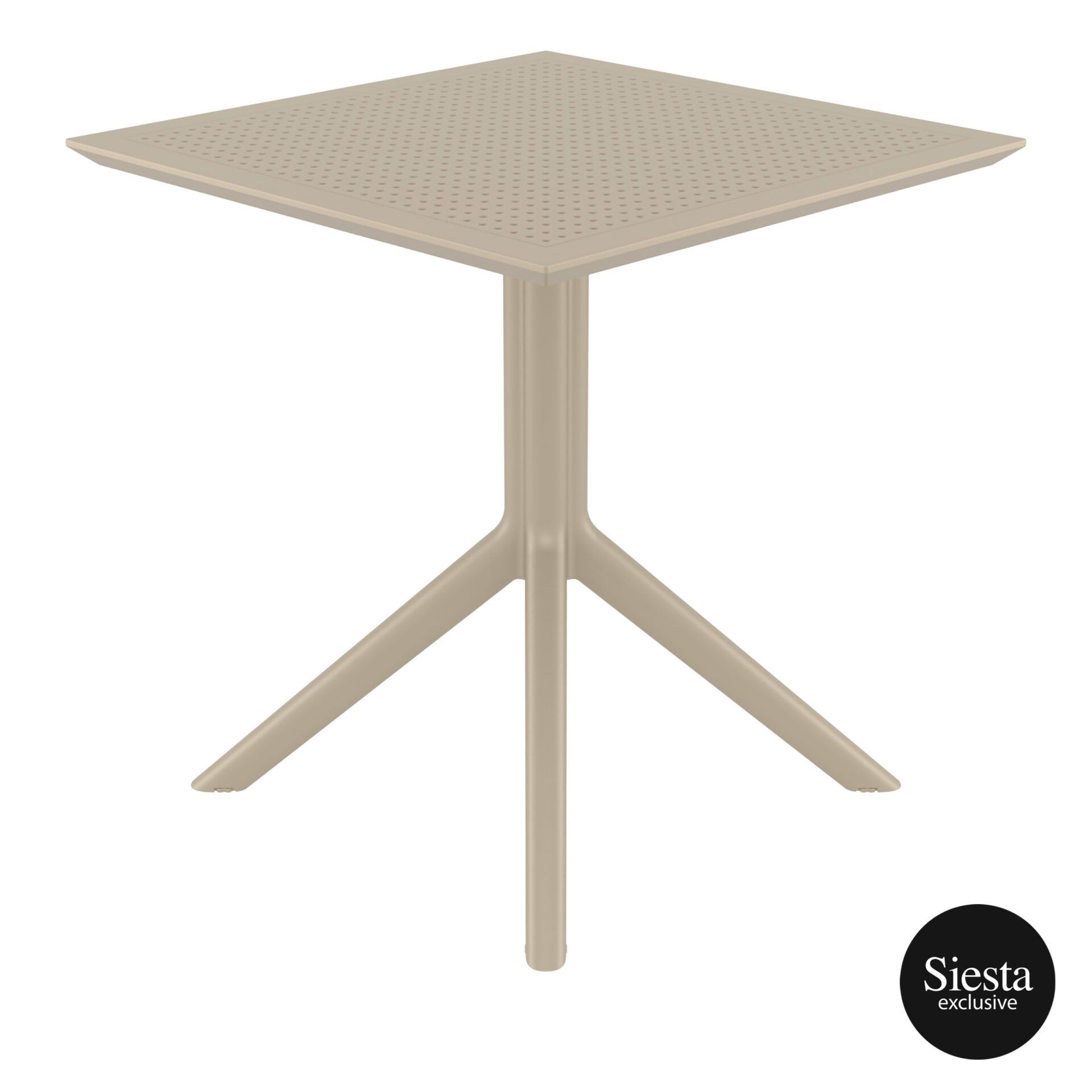 polypropylene outdoor cafe sky table 70 taupe side 1