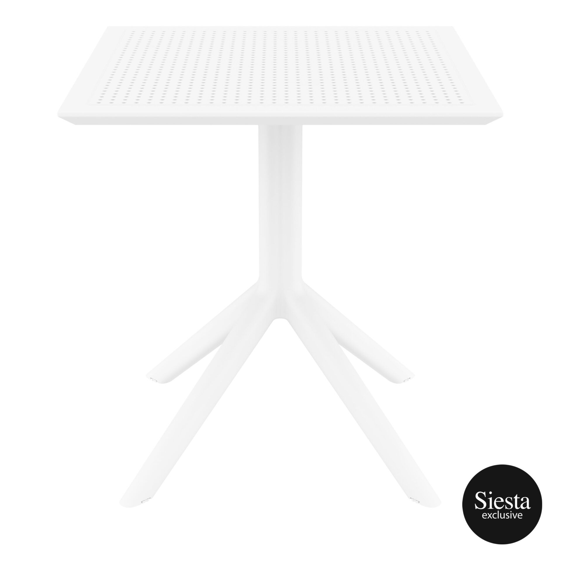 polypropylene outdoor cafe sky table 70 white front 1