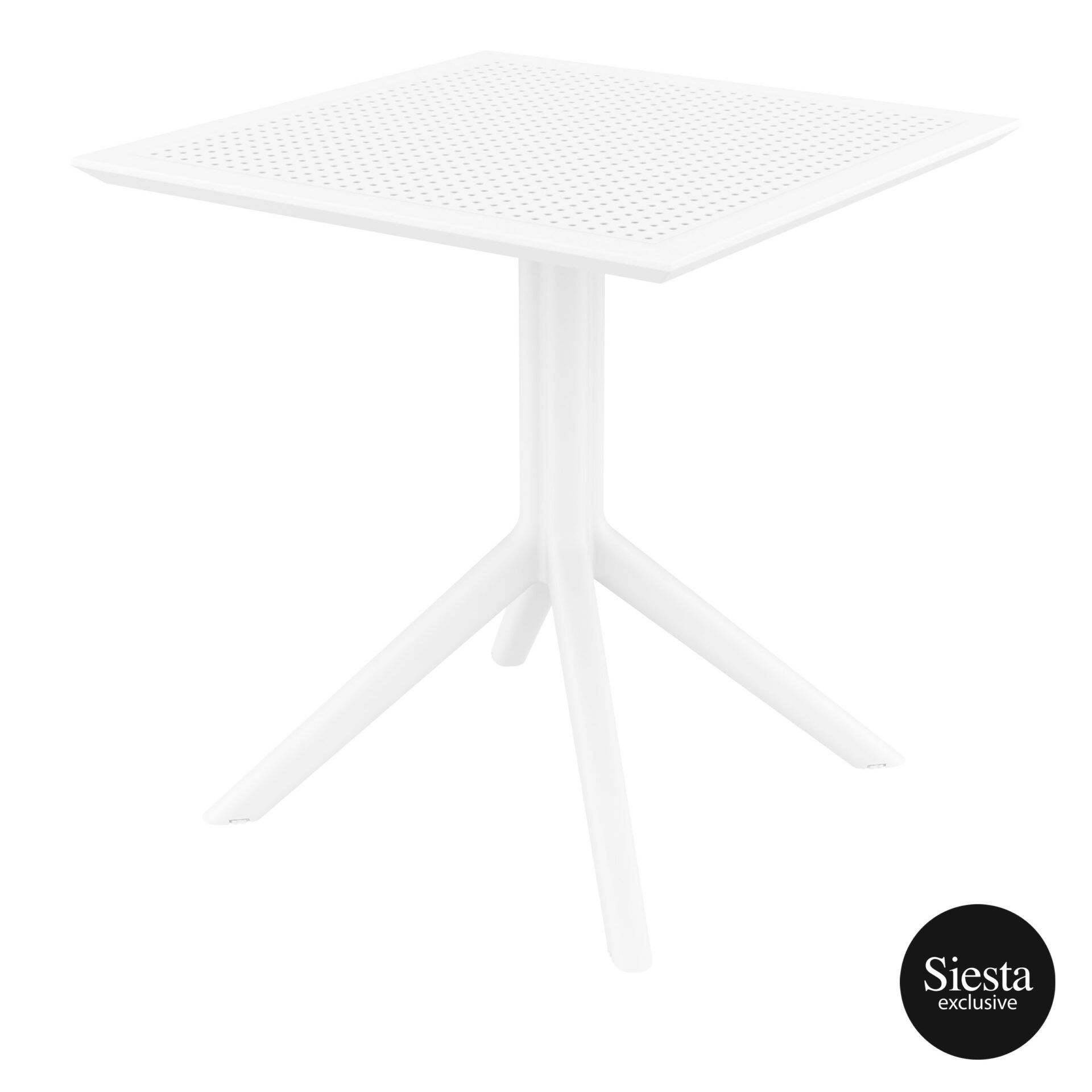 polypropylene outdoor cafe sky table 70 white front side 1