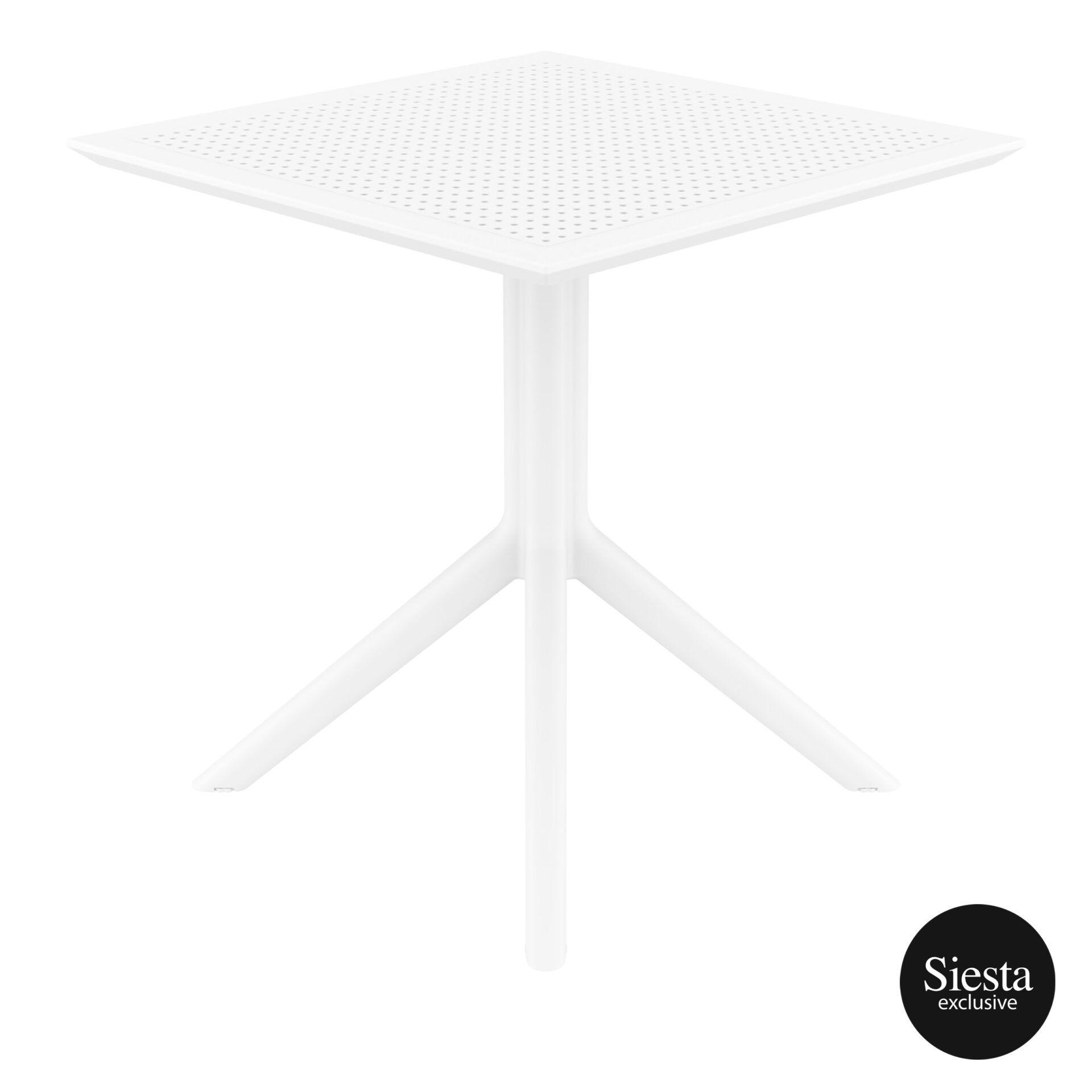 polypropylene outdoor cafe sky table 70 white side 1