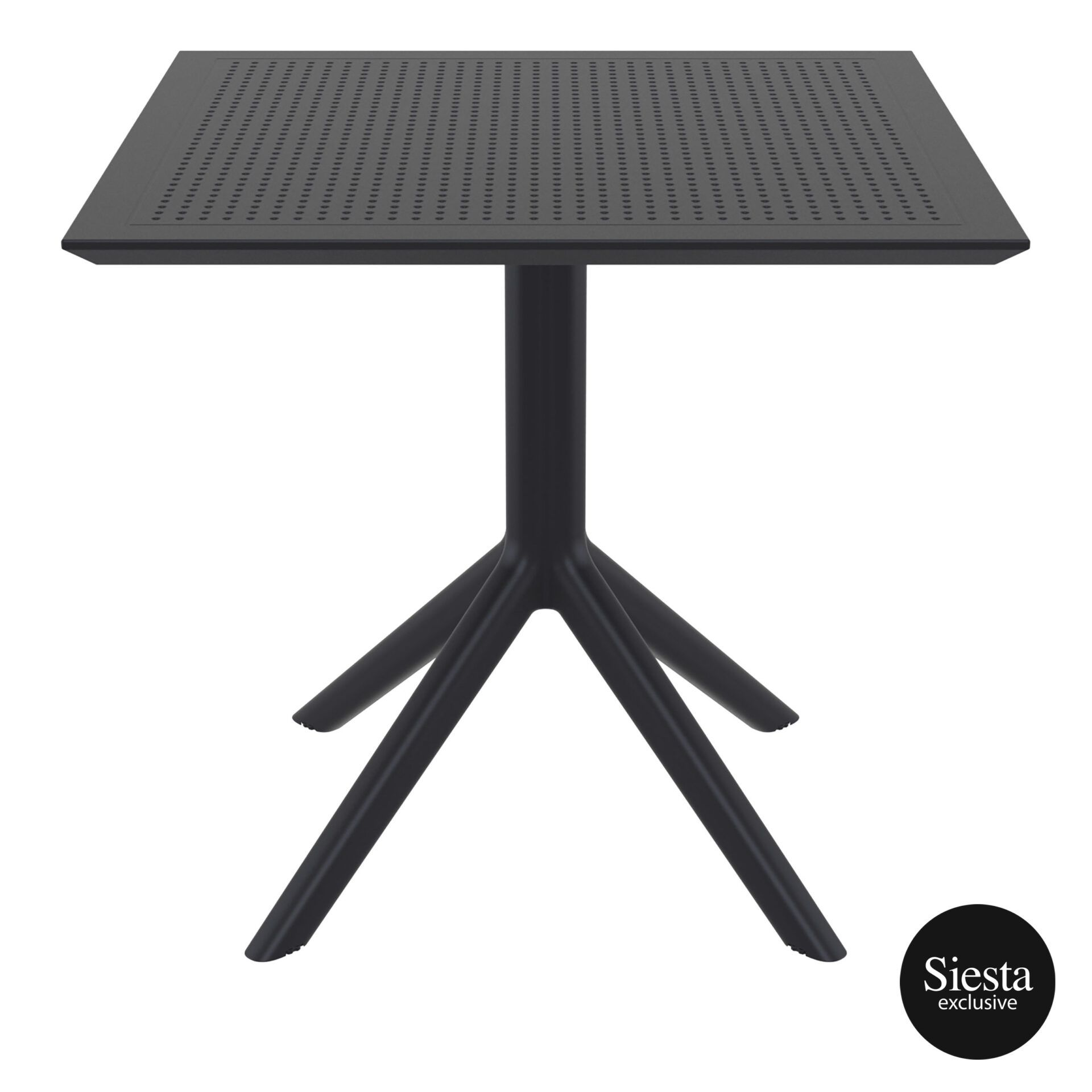 polypropylene outdoor cafe sky table 80 black front 1