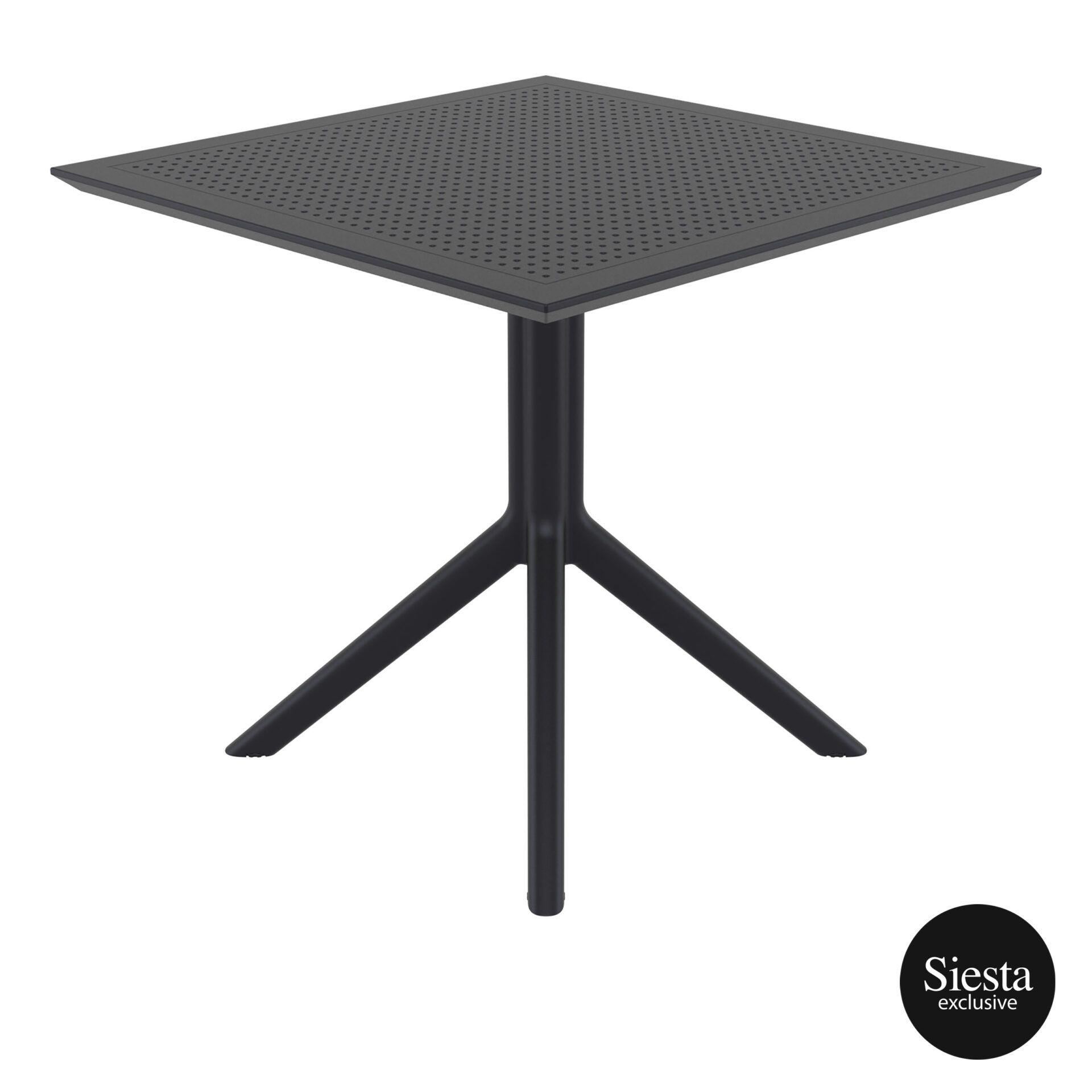polypropylene outdoor cafe sky table 80 black side 1