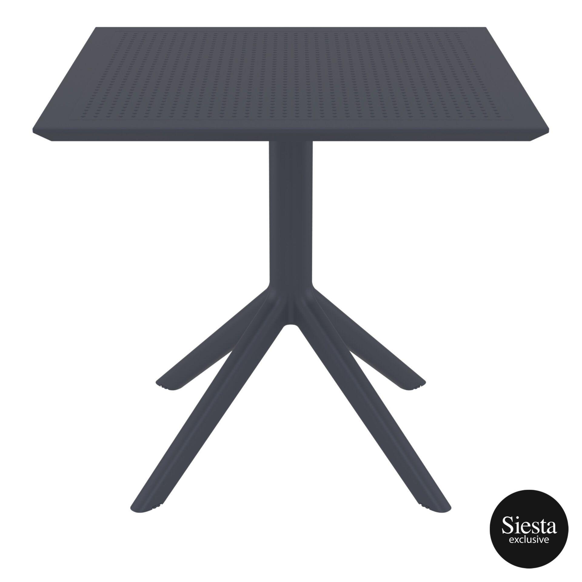 polypropylene outdoor cafe sky table 80 darkgrey front 2