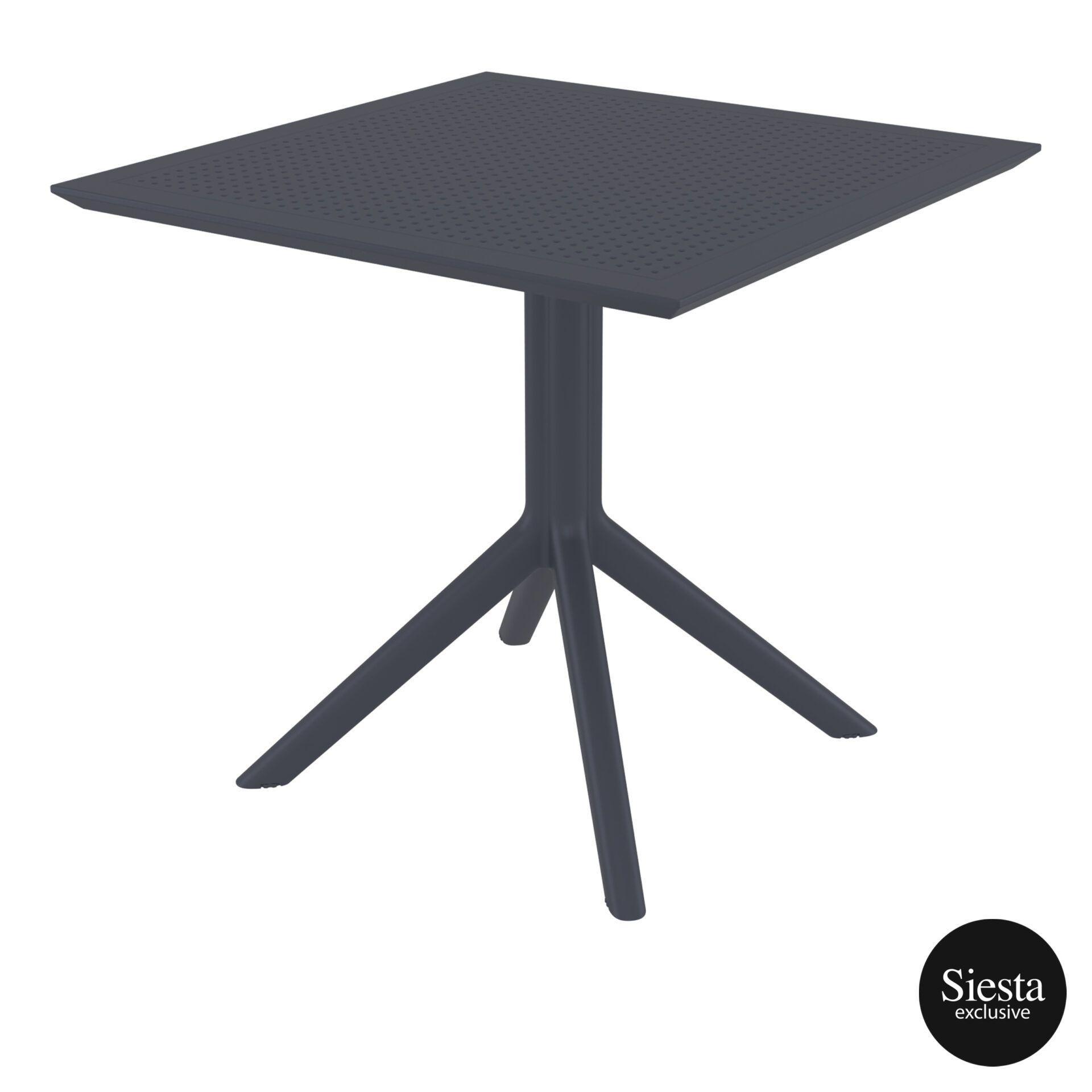 polypropylene outdoor cafe sky table 80 darkgrey front side 2
