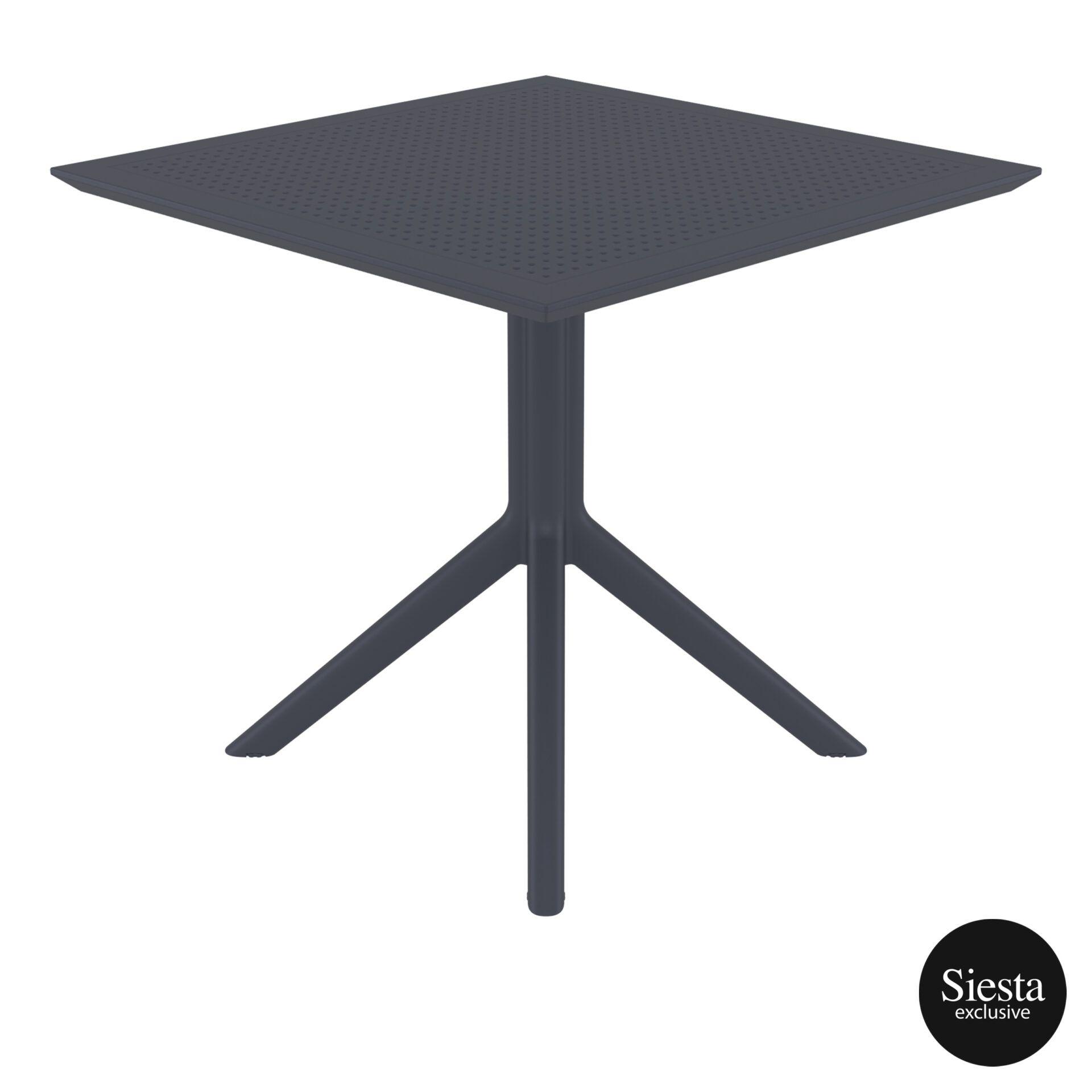 polypropylene outdoor cafe sky table 80 darkgrey side 2