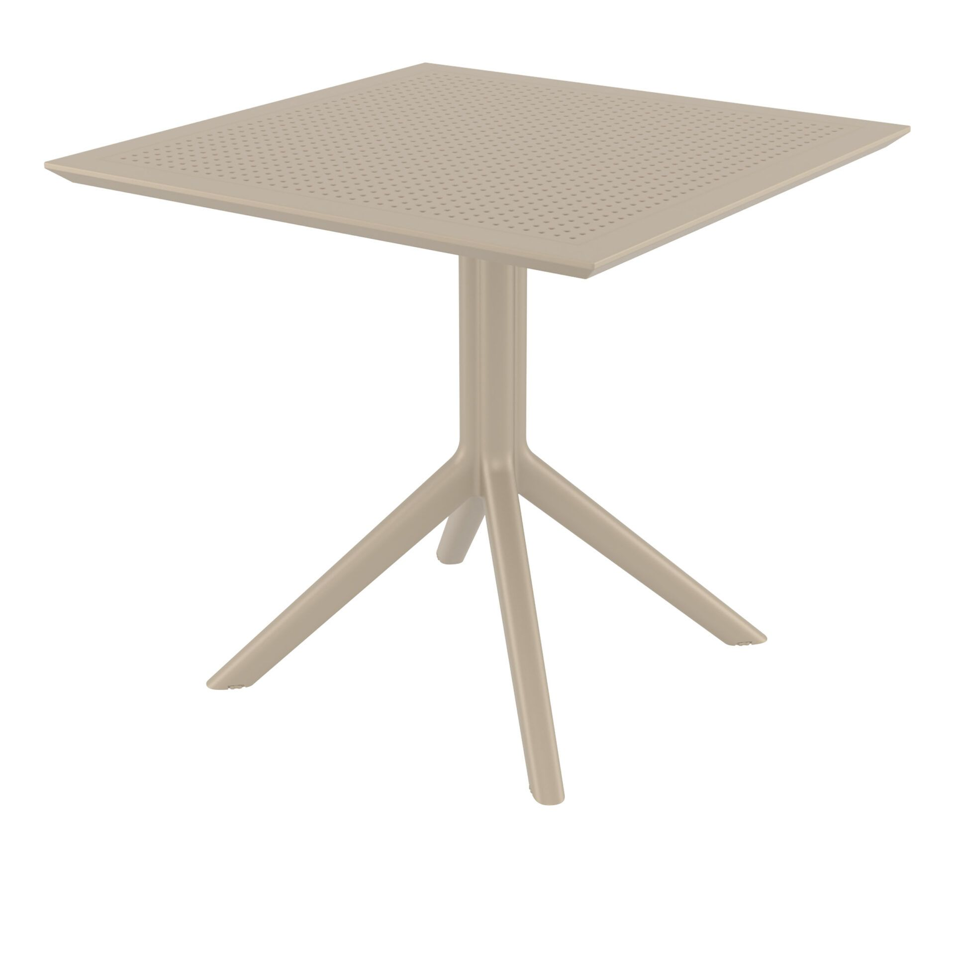 polypropylene outdoor cafe sky table 80 taupe front side