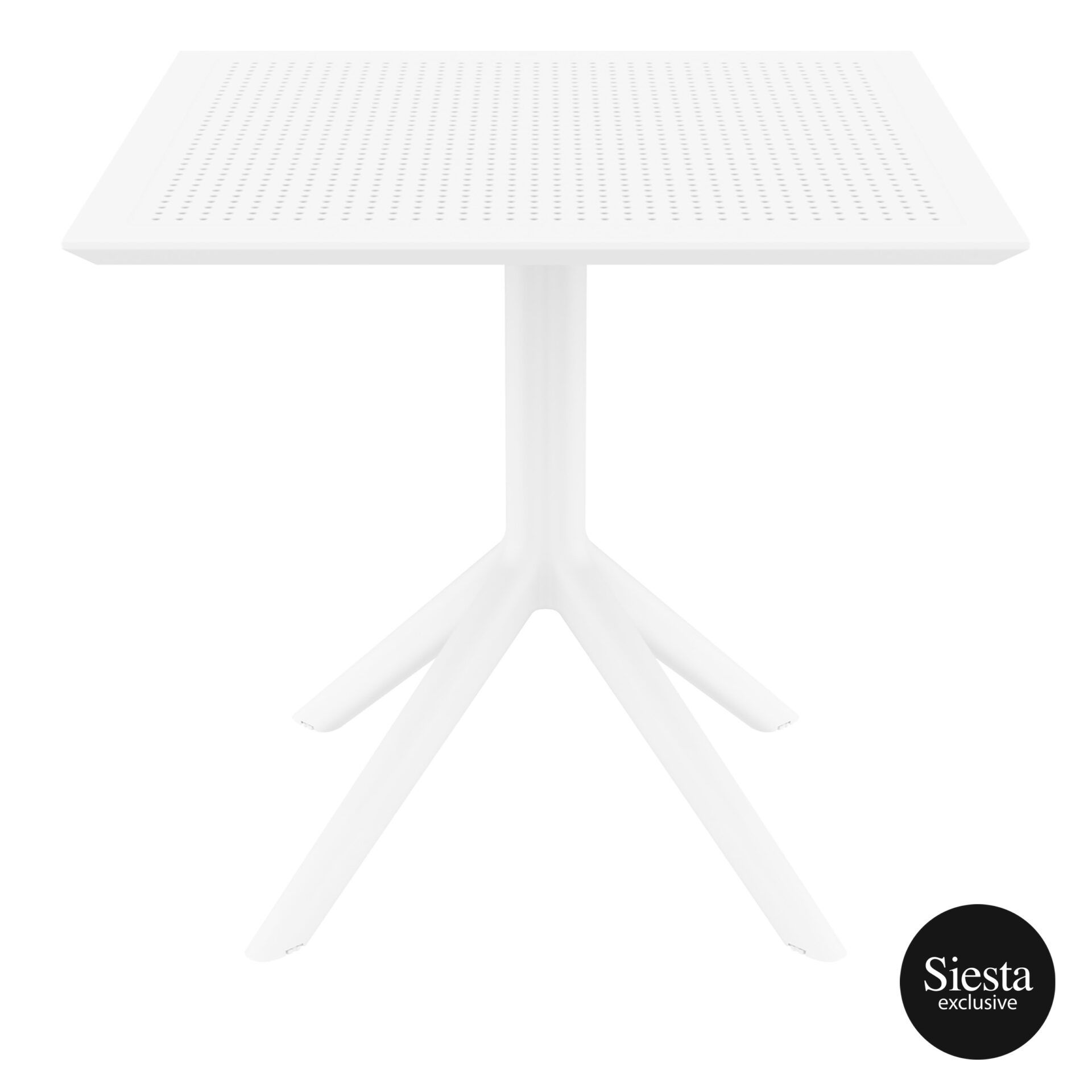 polypropylene outdoor cafe sky table 80 white front 1
