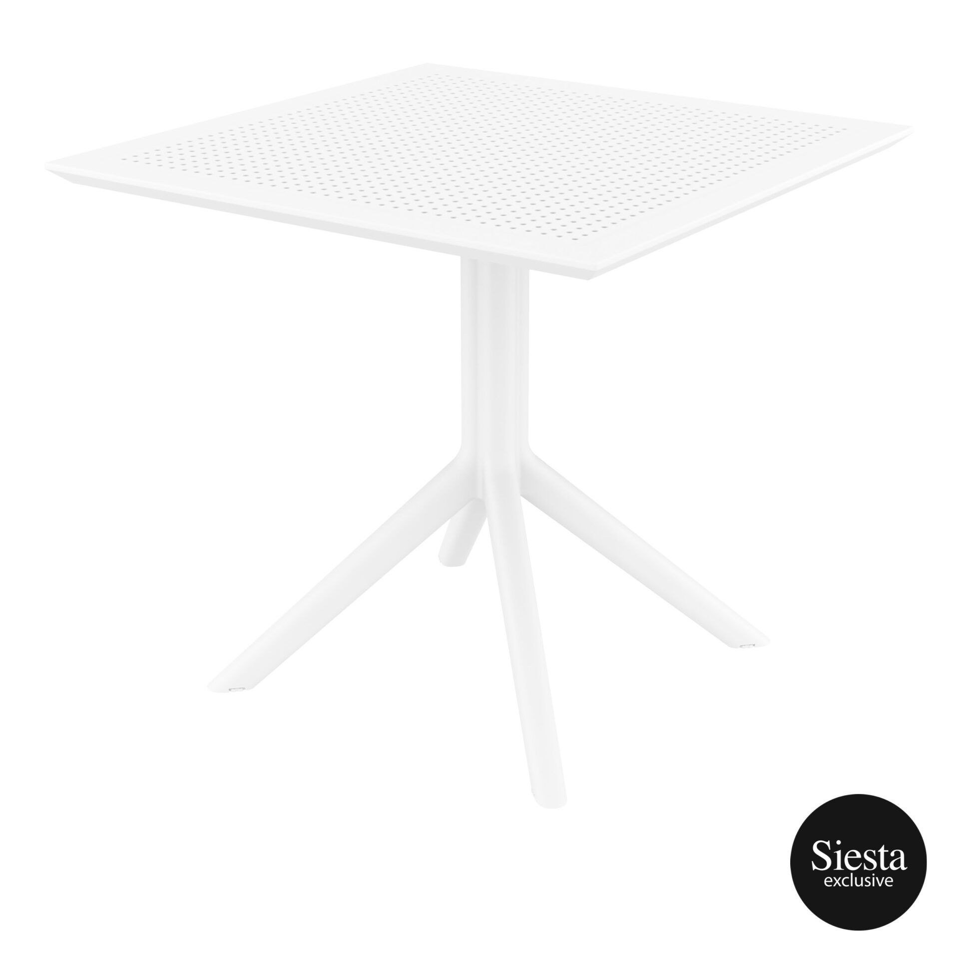 polypropylene outdoor cafe sky table 80 white front side 1