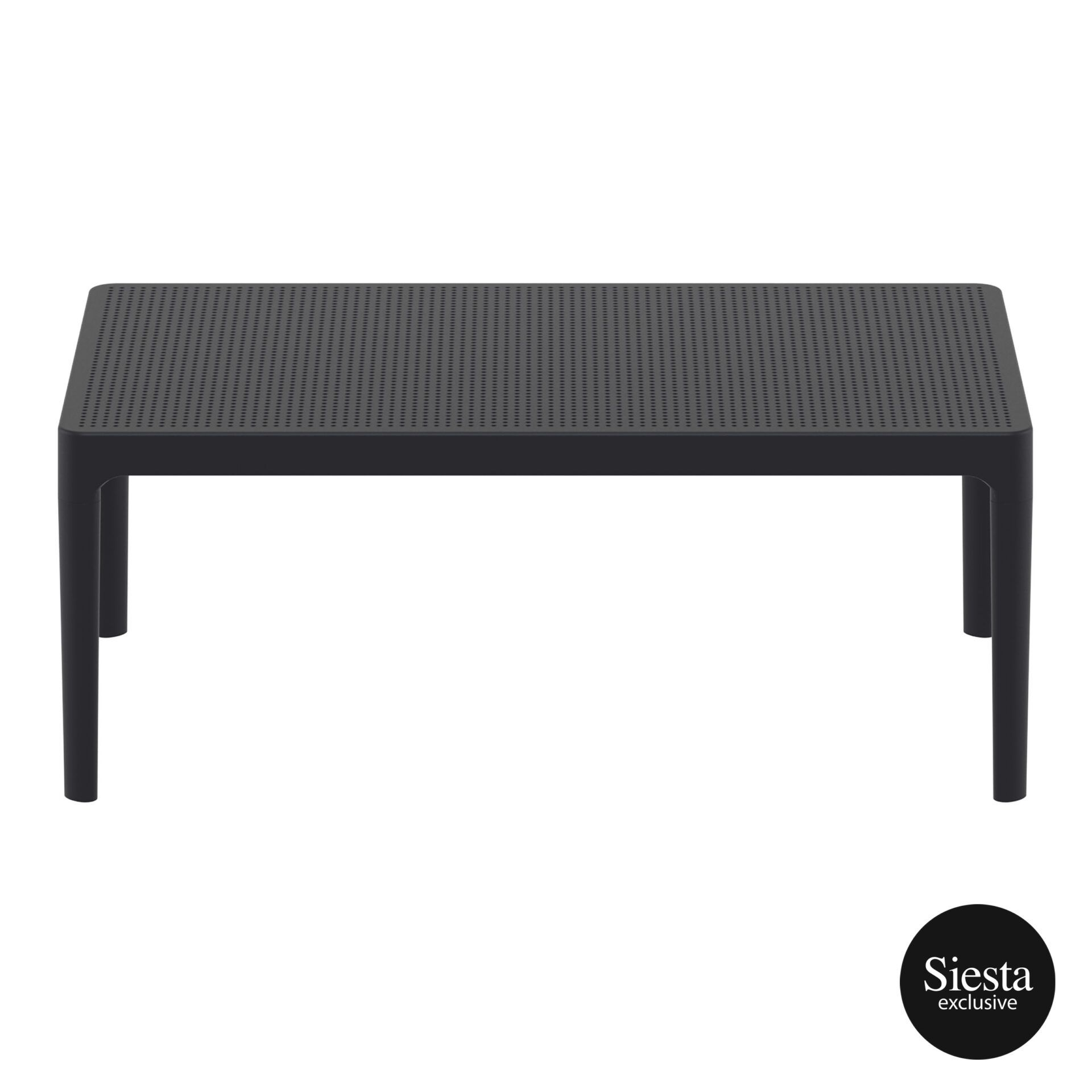 polypropylene outdoor sky lounge coffee table black long edge 1