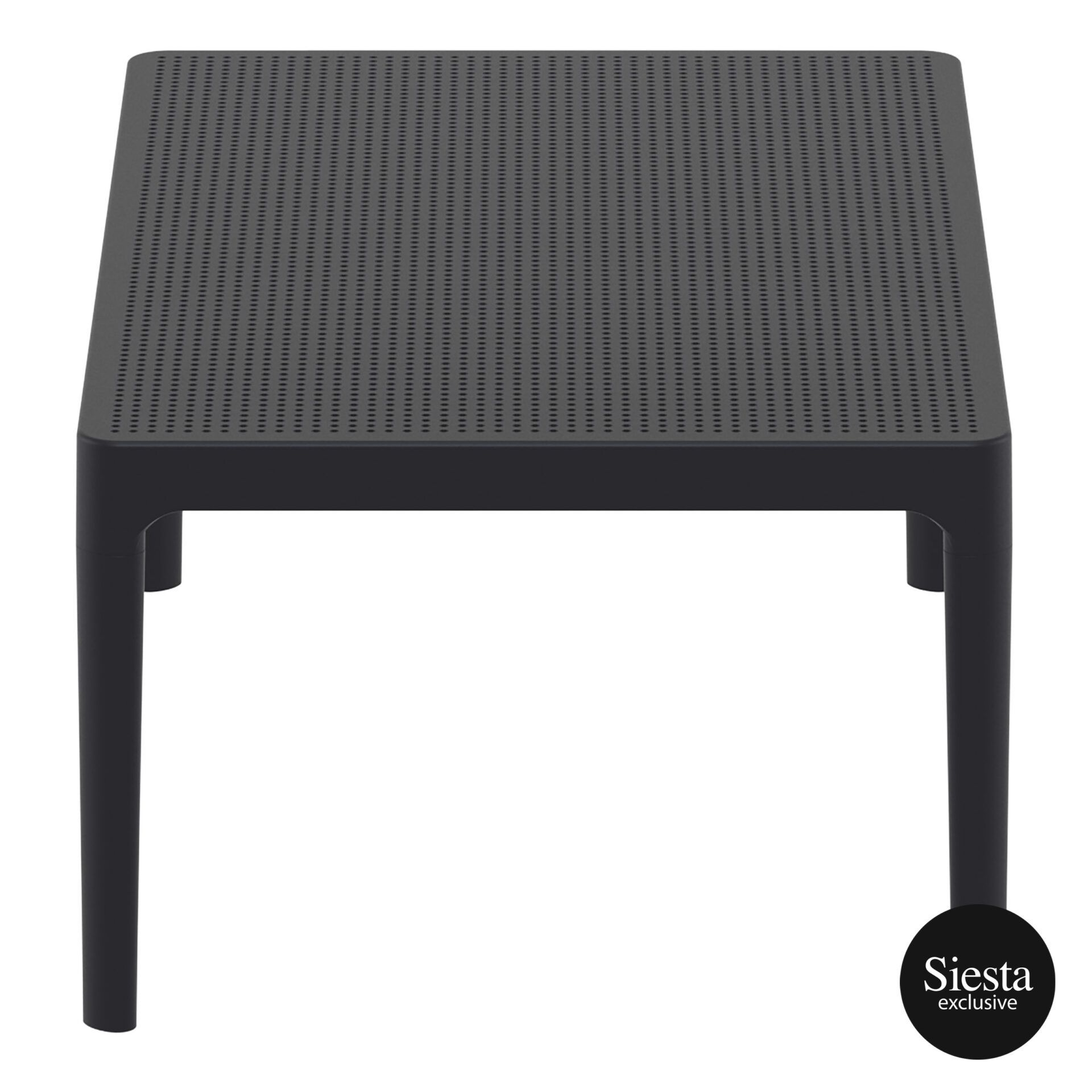 polypropylene outdoor sky lounge coffee table black short edge 1