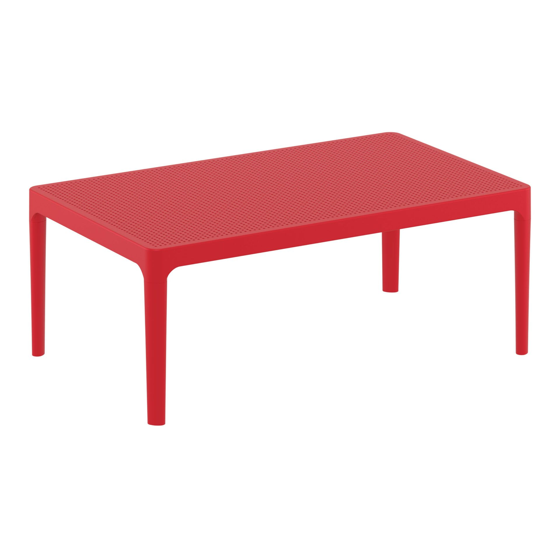 polypropylene outdoor sky lounge coffee table red front side