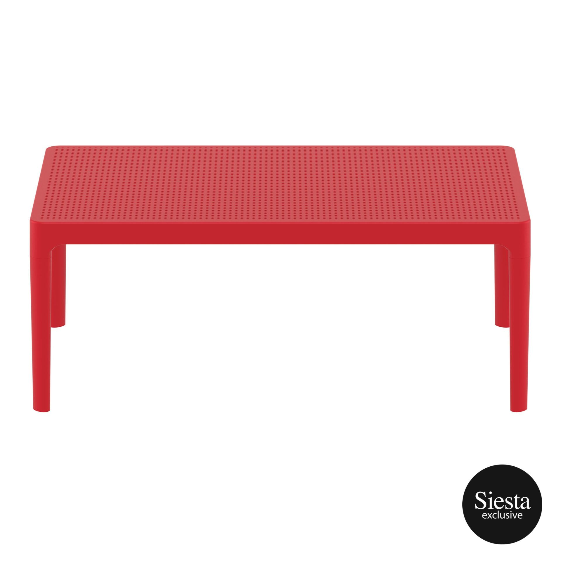 polypropylene outdoor sky lounge coffee table red long edge 1