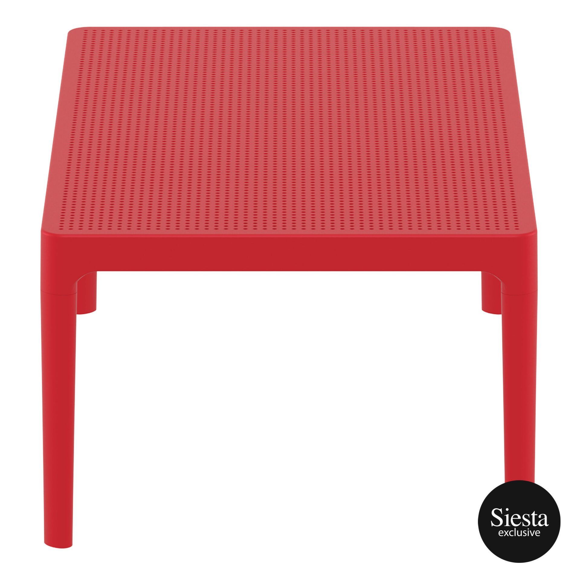 polypropylene outdoor sky lounge coffee table red short edge 1