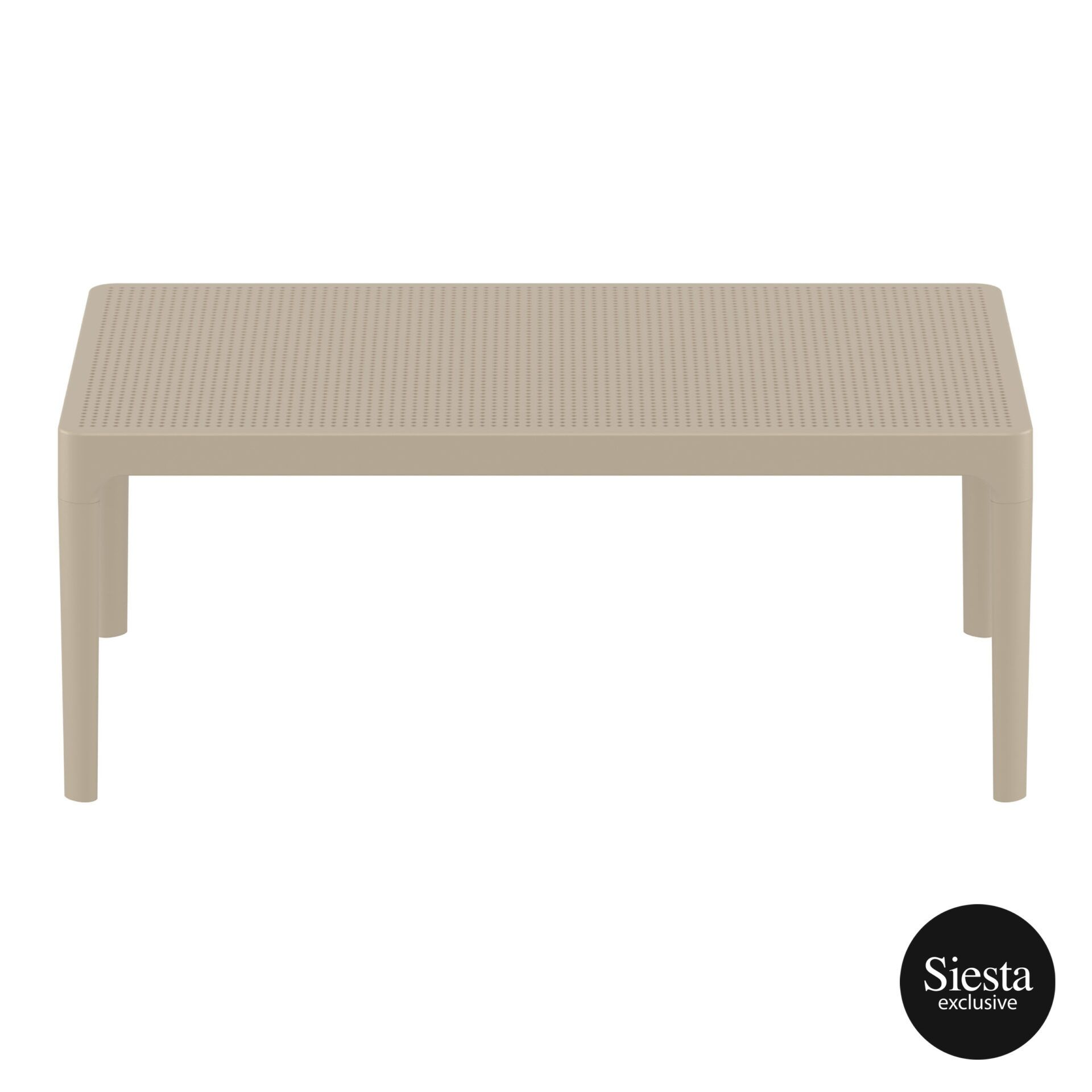 polypropylene outdoor sky lounge coffee table taupe long edge 1