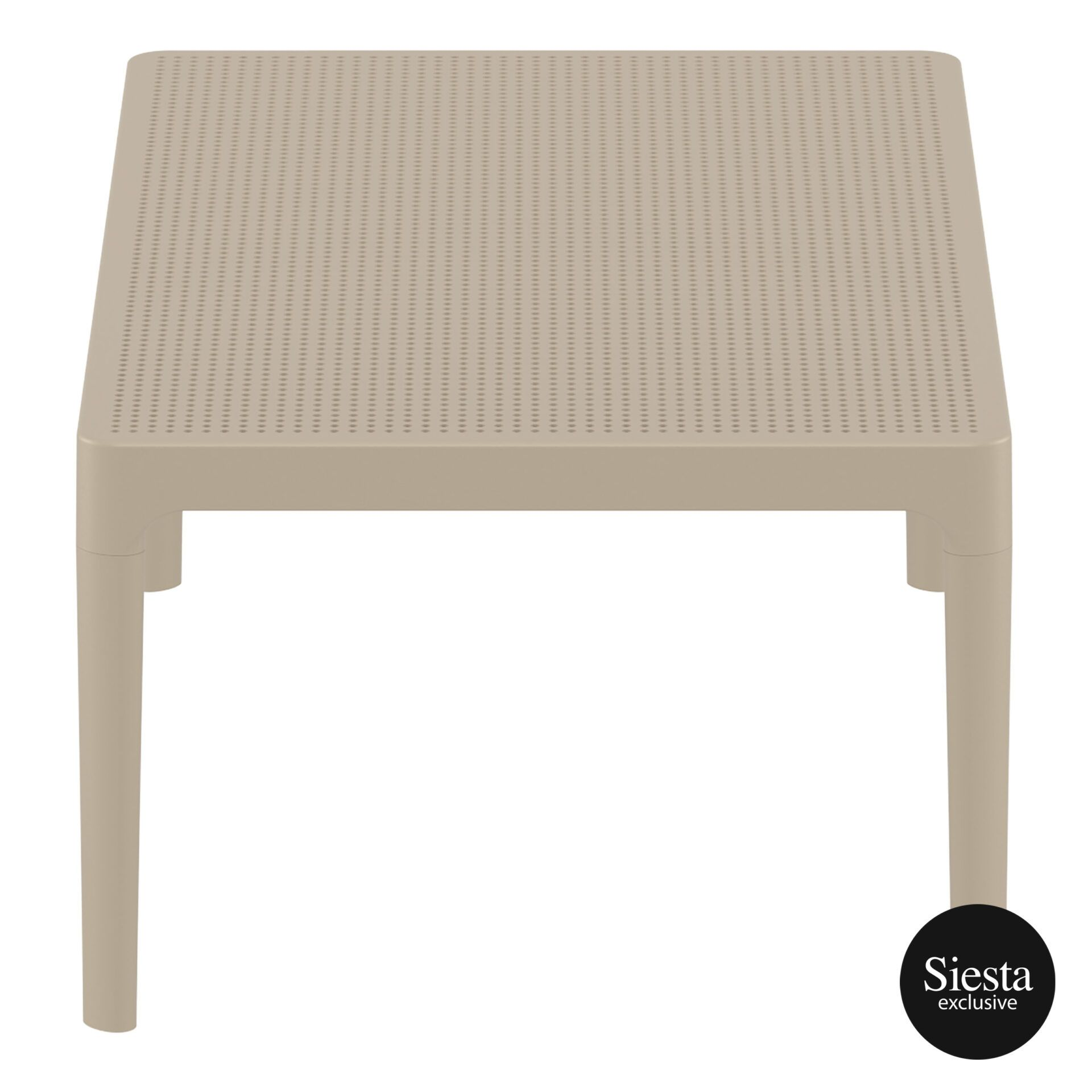 polypropylene outdoor sky lounge coffee table taupe short edge 1