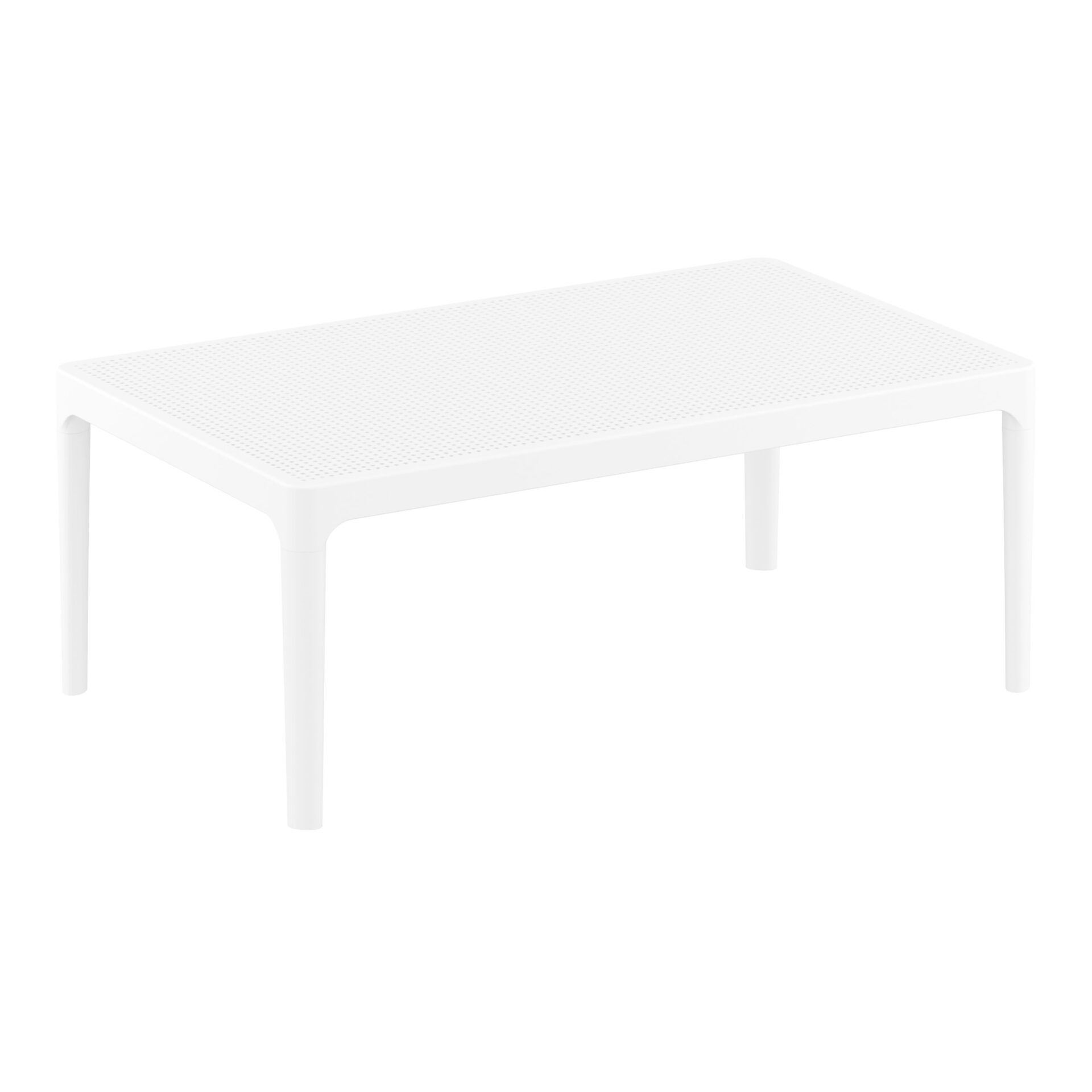 polypropylene outdoor sky lounge coffee table white front side