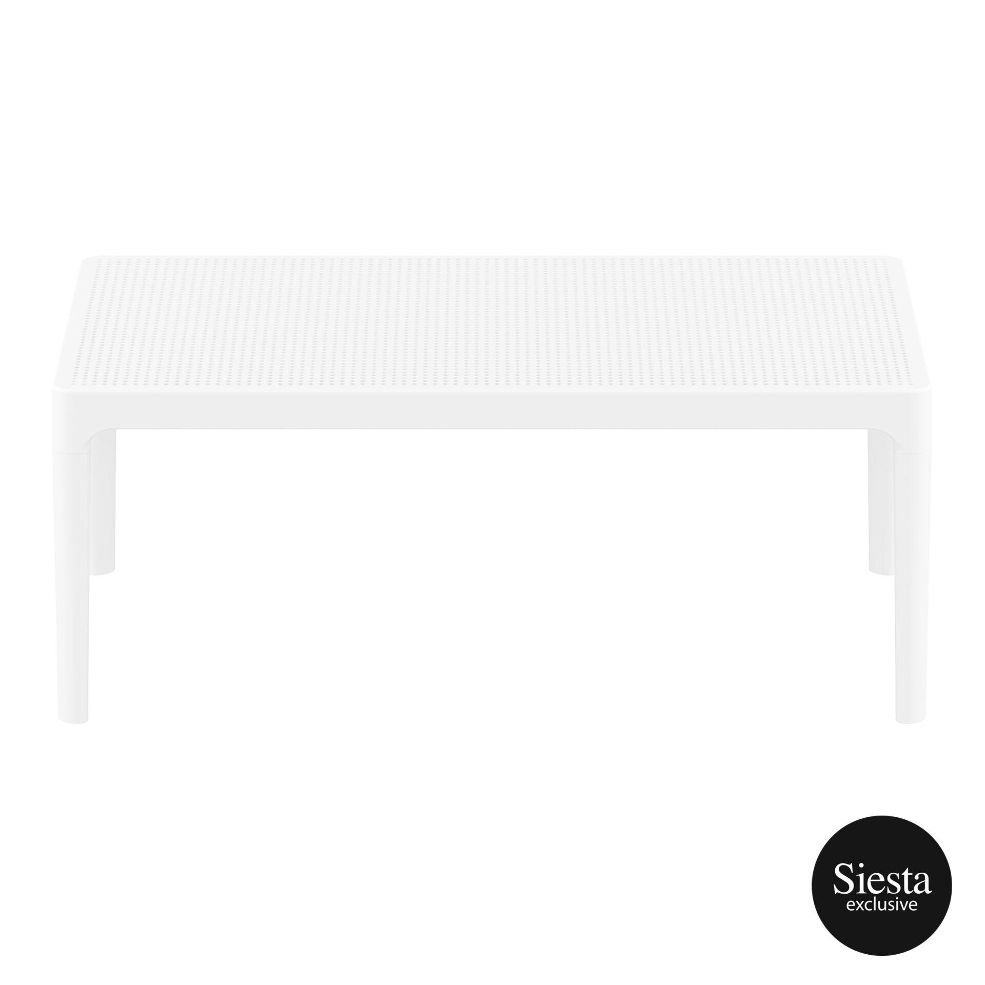 polypropylene outdoor sky lounge coffee table white long edge 1