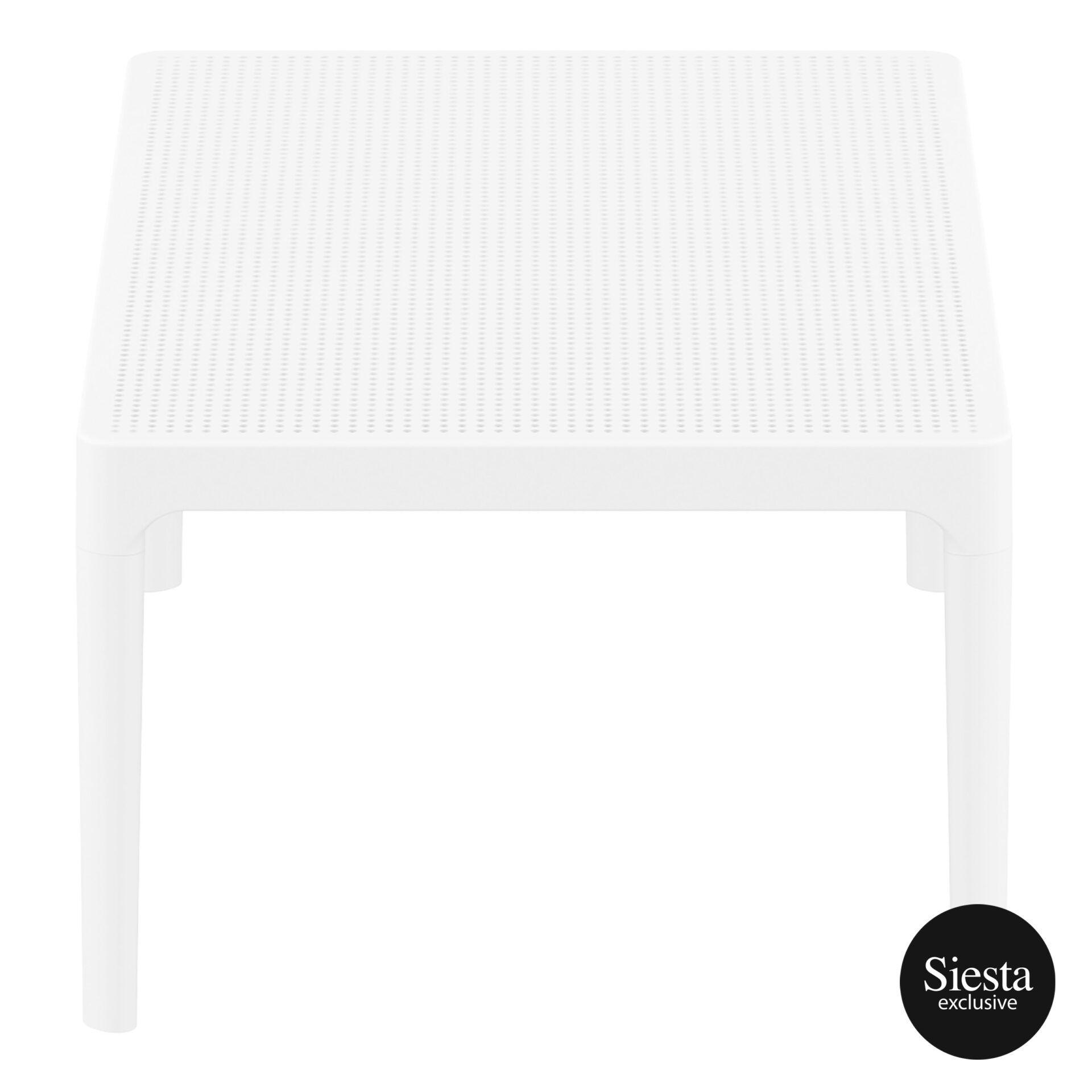 polypropylene outdoor sky lounge coffee table white short edge 1