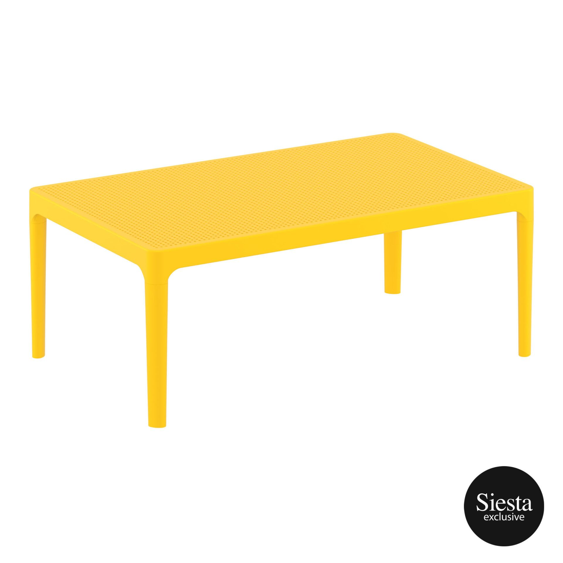 polypropylene outdoor sky lounge coffee table yellow front side 1