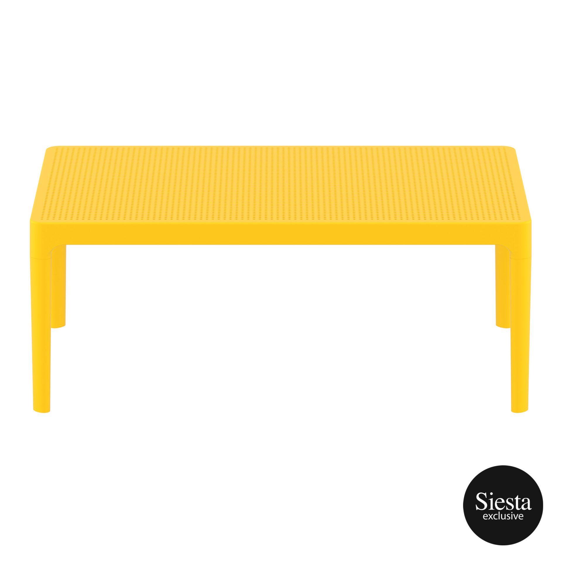 polypropylene outdoor sky lounge coffee table yellow long edge 1