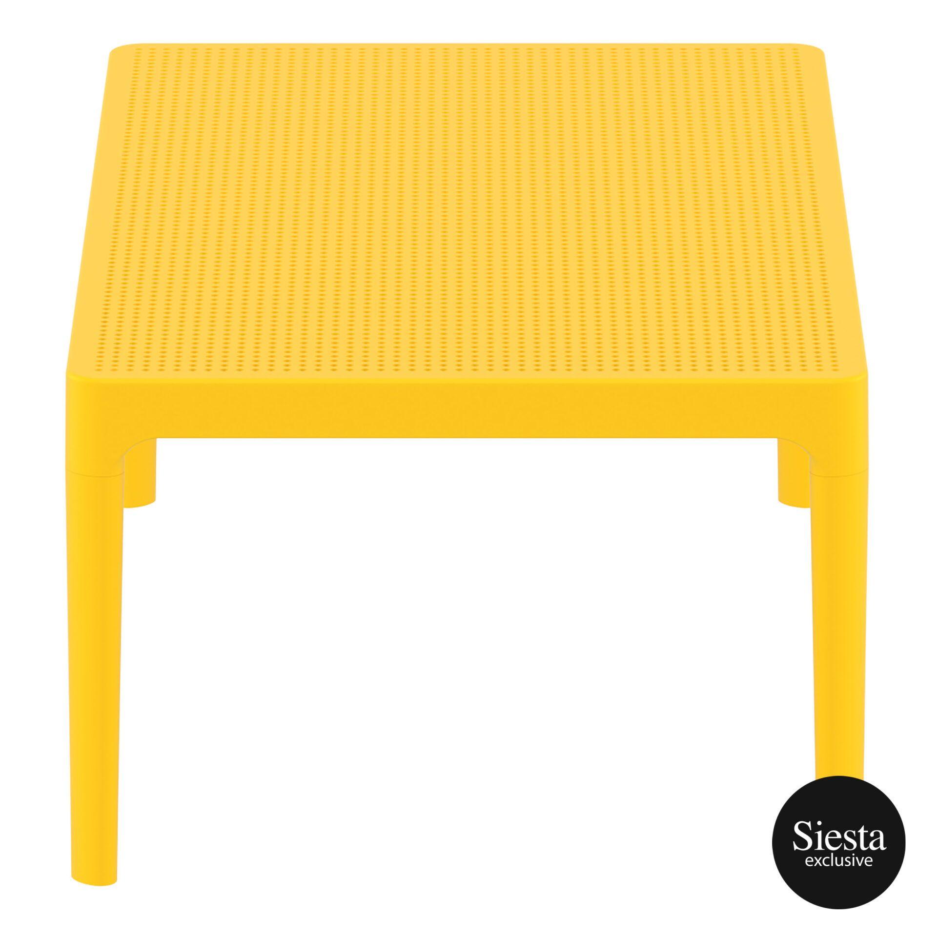 polypropylene outdoor sky lounge coffee table yellow short edge 1