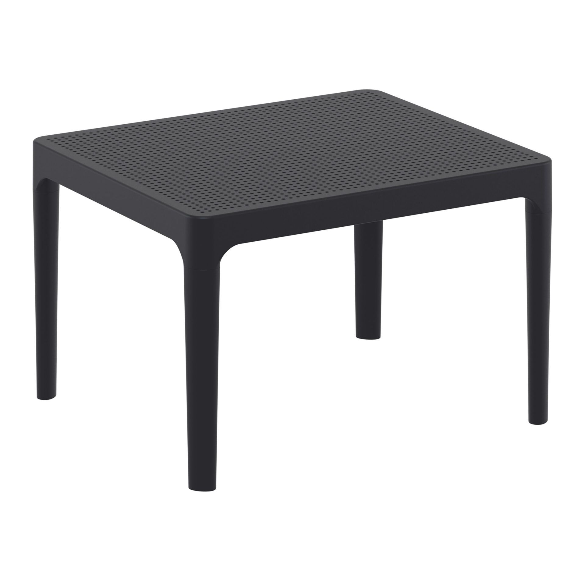 polypropylene outdoor sky side table black front side