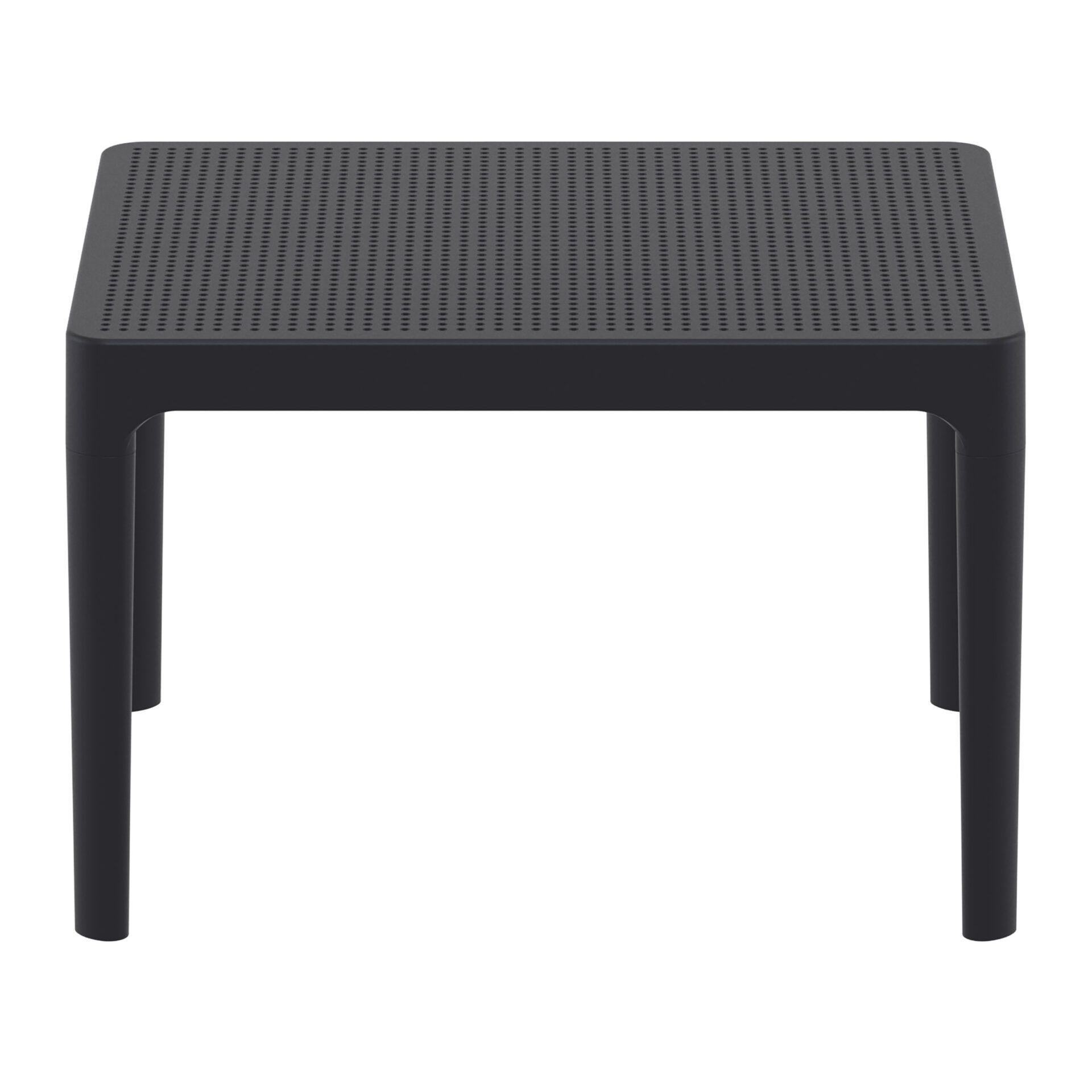 polypropylene outdoor sky side table black long edge