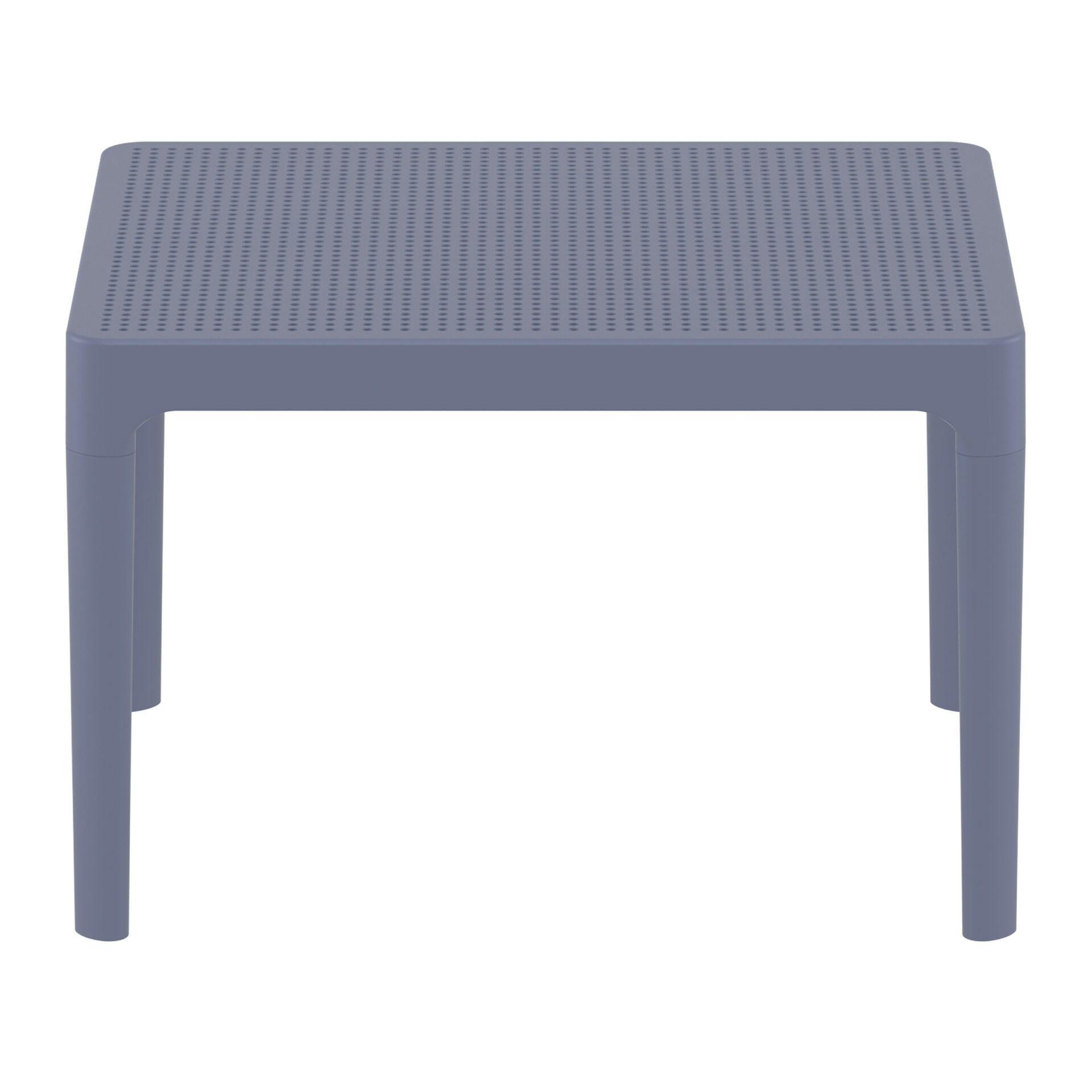 polypropylene outdoor sky side table darkgrey long edge