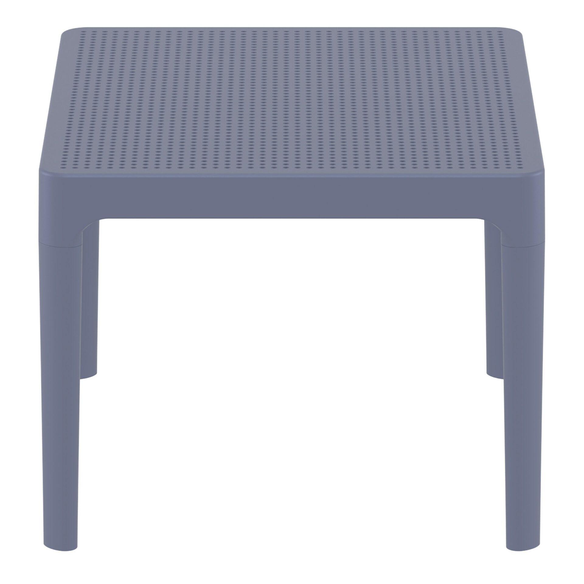 polypropylene outdoor sky side table darkgrey short edge