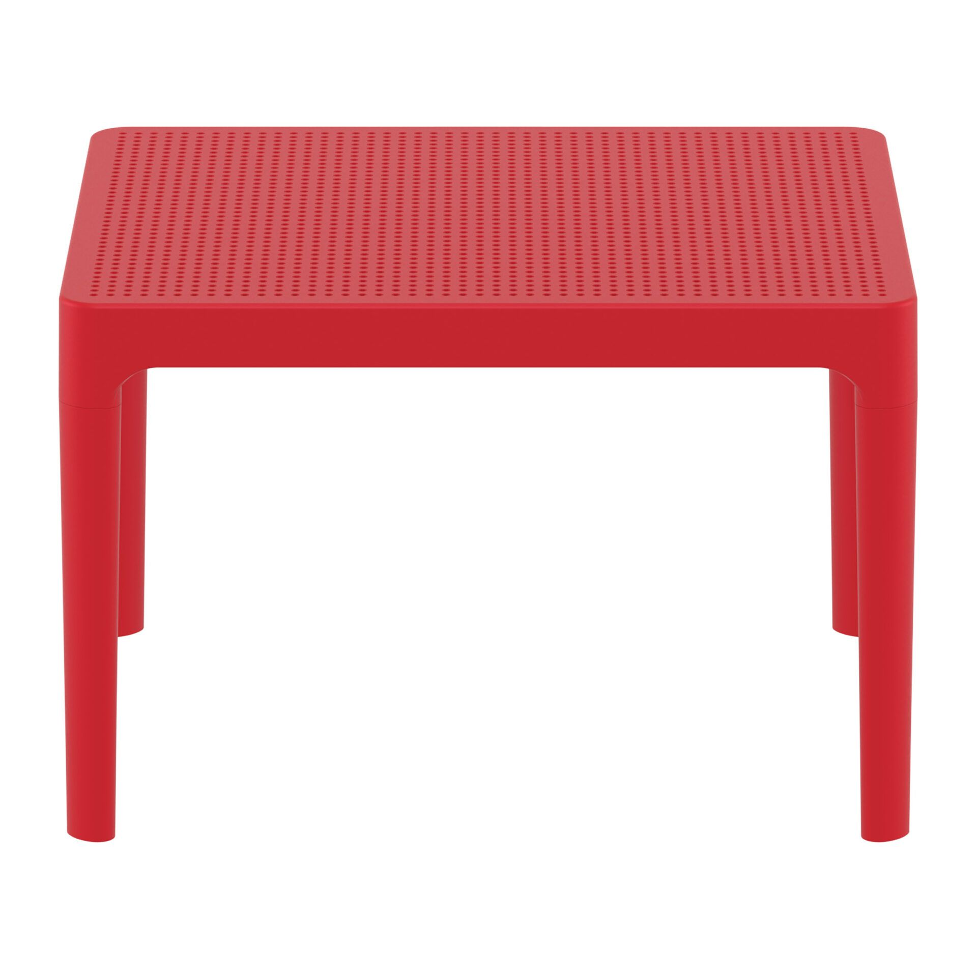 polypropylene outdoor sky side table red long edge