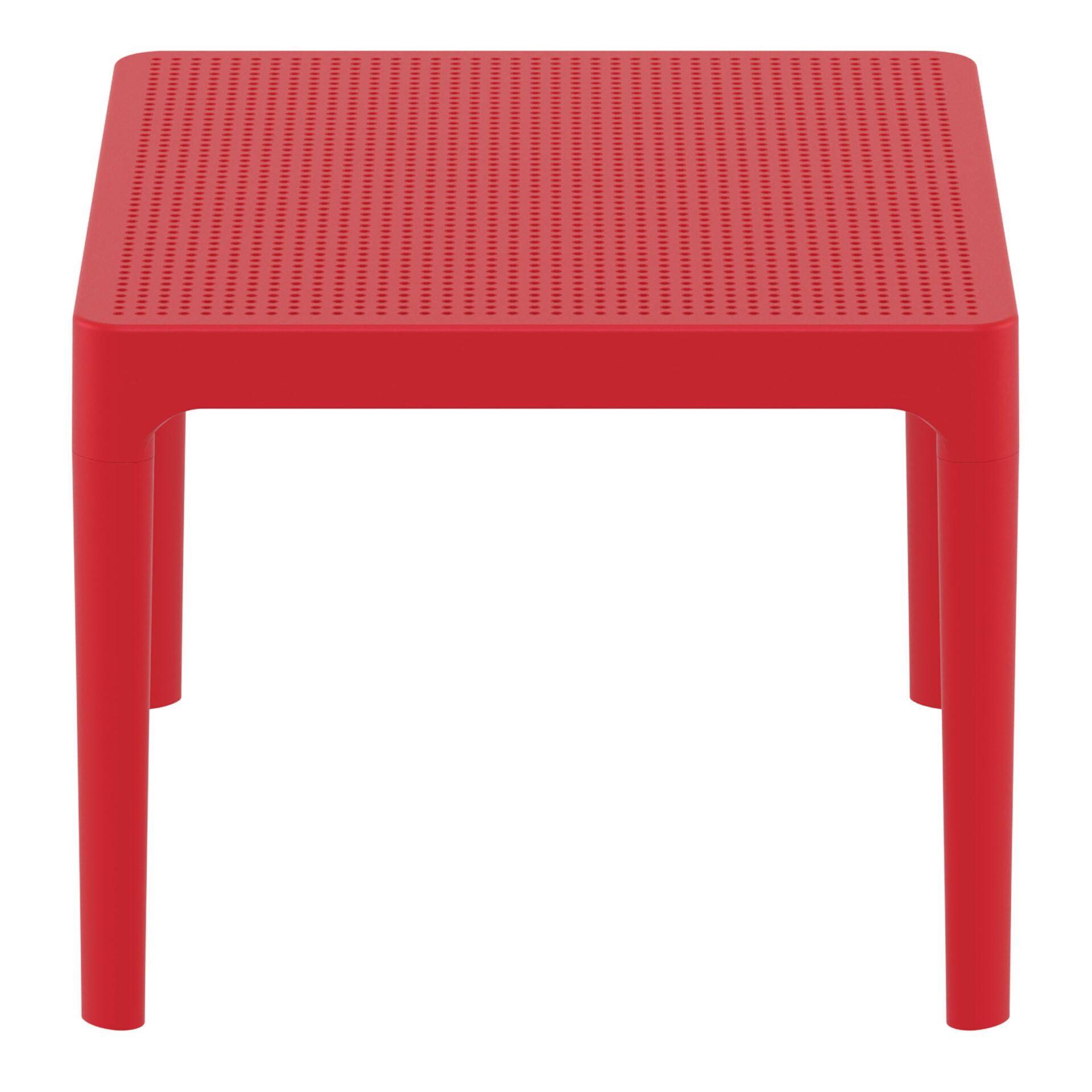 polypropylene outdoor sky side table red short edge