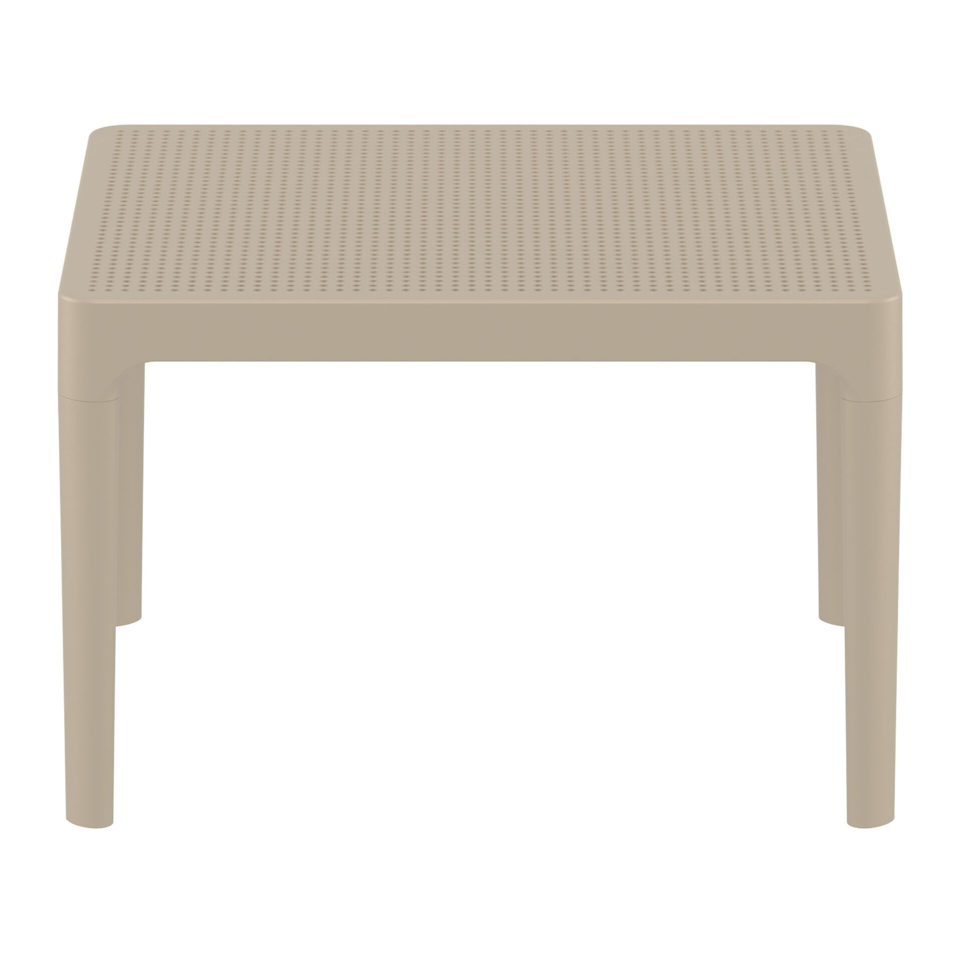 polypropylene outdoor sky side table taupe long edge