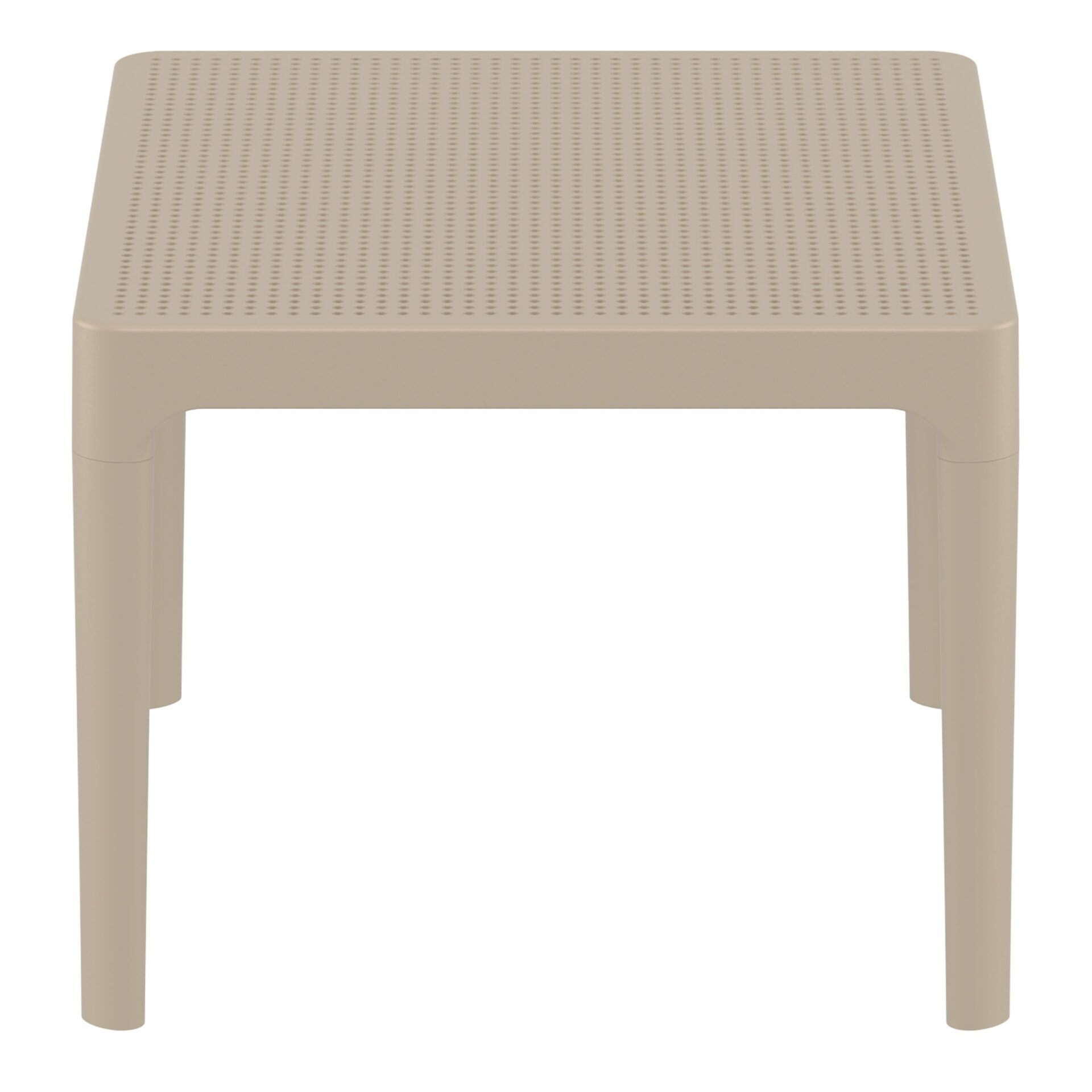 polypropylene outdoor sky side table taupe short edge