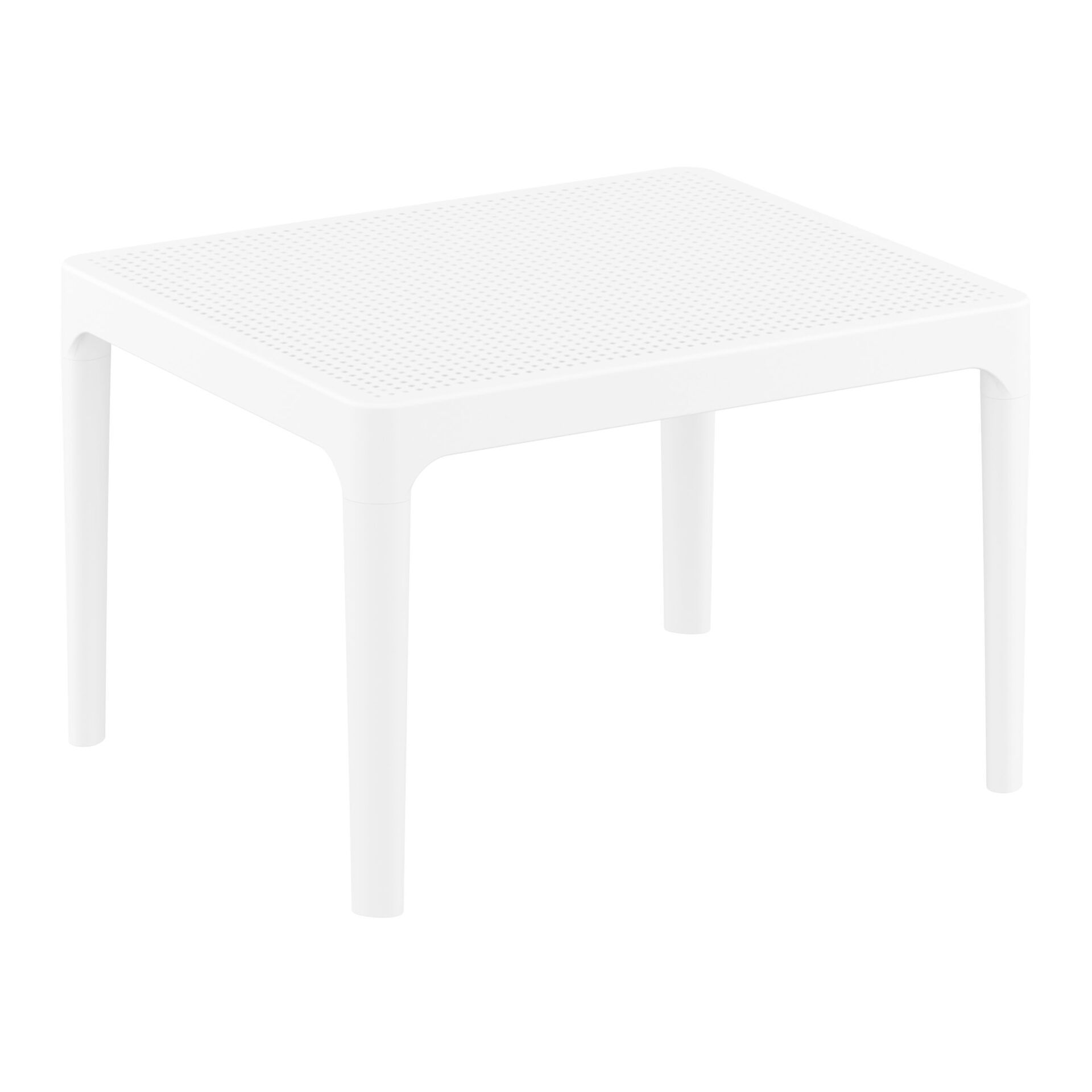 polypropylene outdoor sky side table white front side