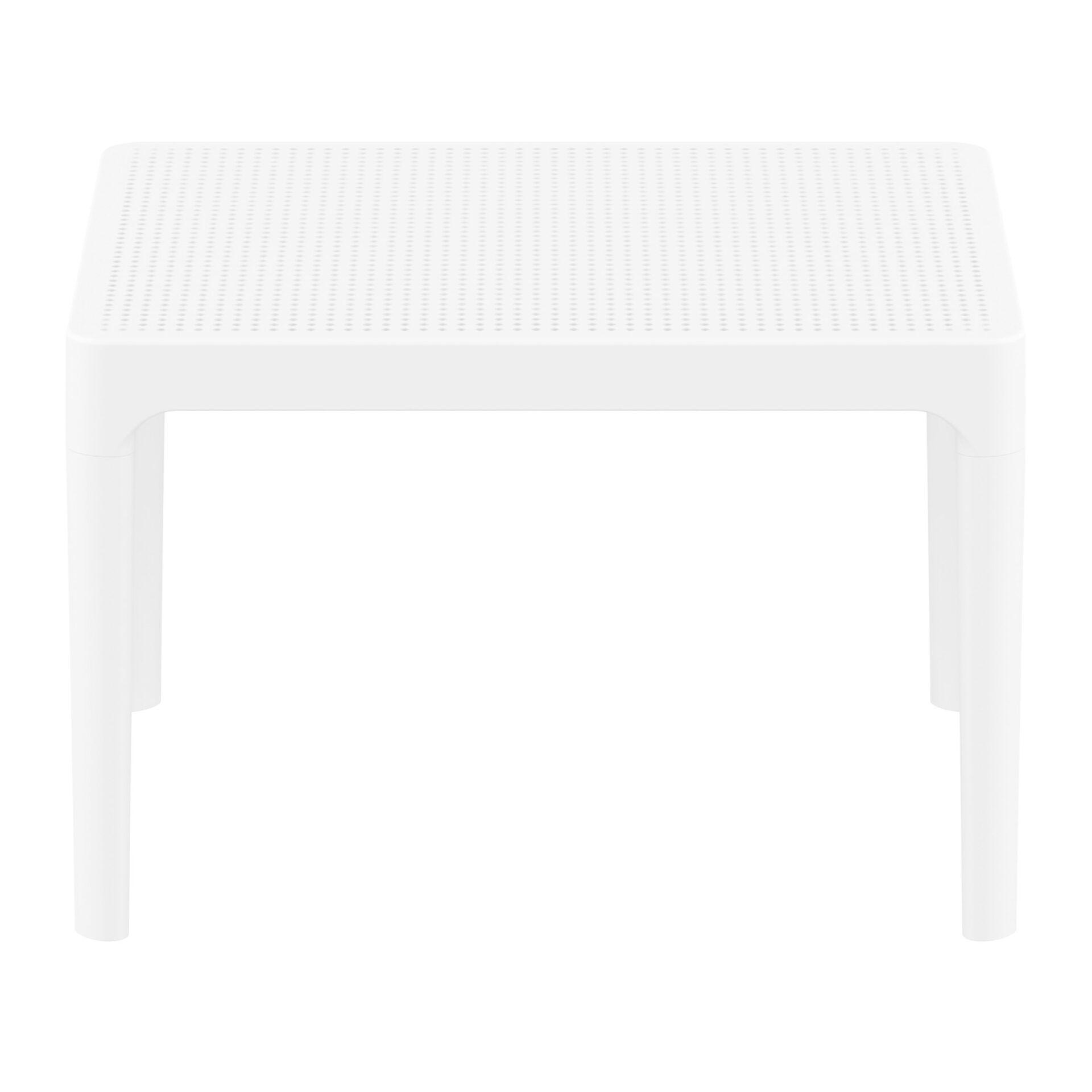 polypropylene outdoor sky side table white long edge