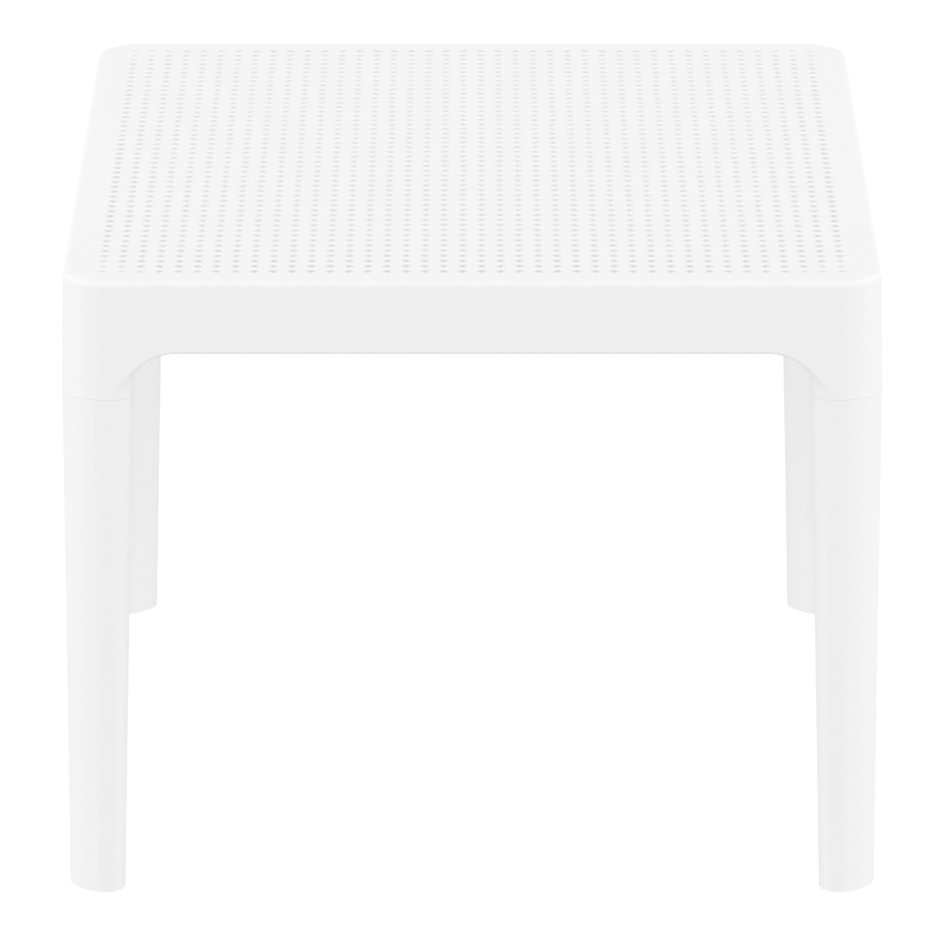 polypropylene outdoor sky side table white short edge