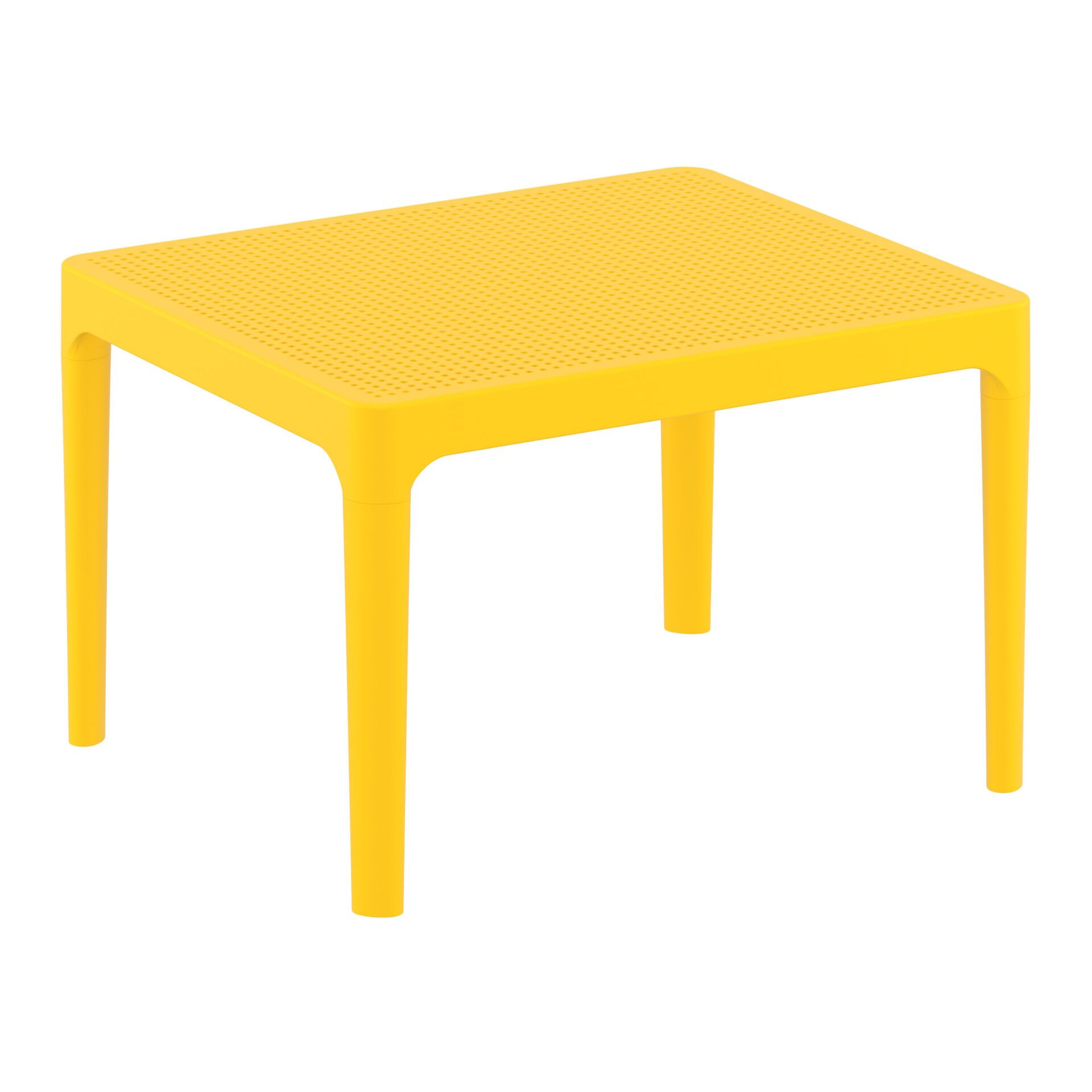 polypropylene outdoor sky side table yellow front side