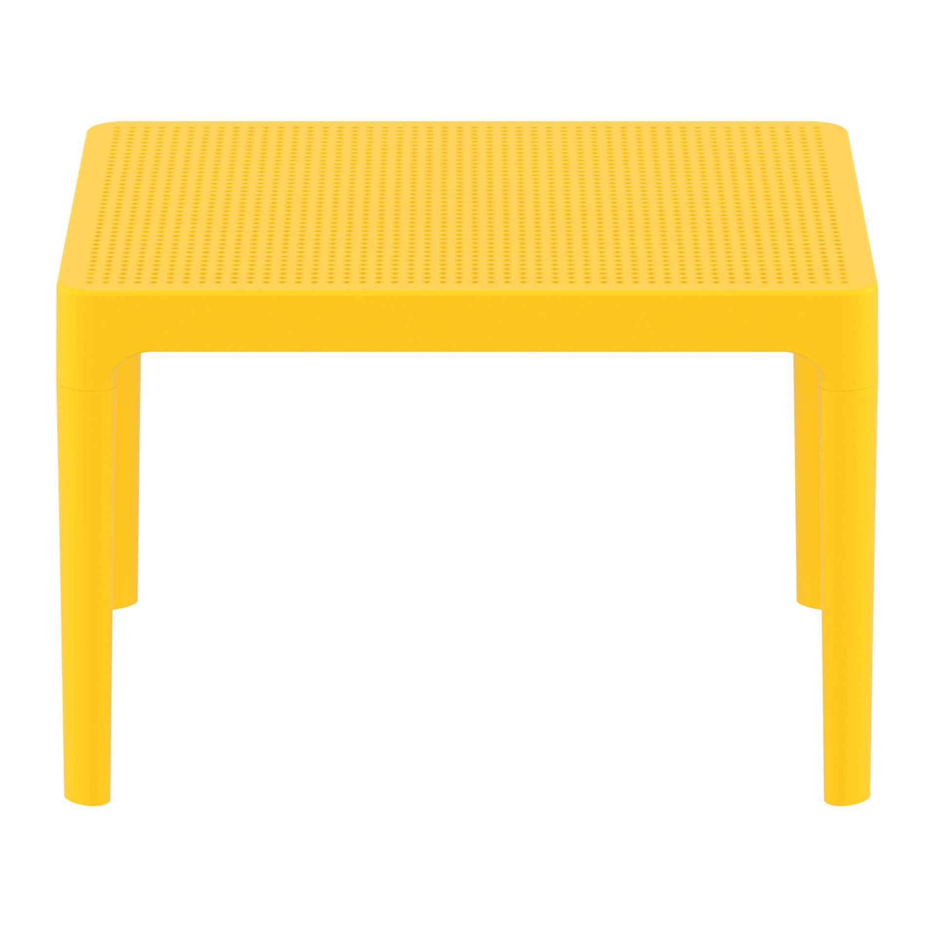 polypropylene outdoor sky side table yellow long edge