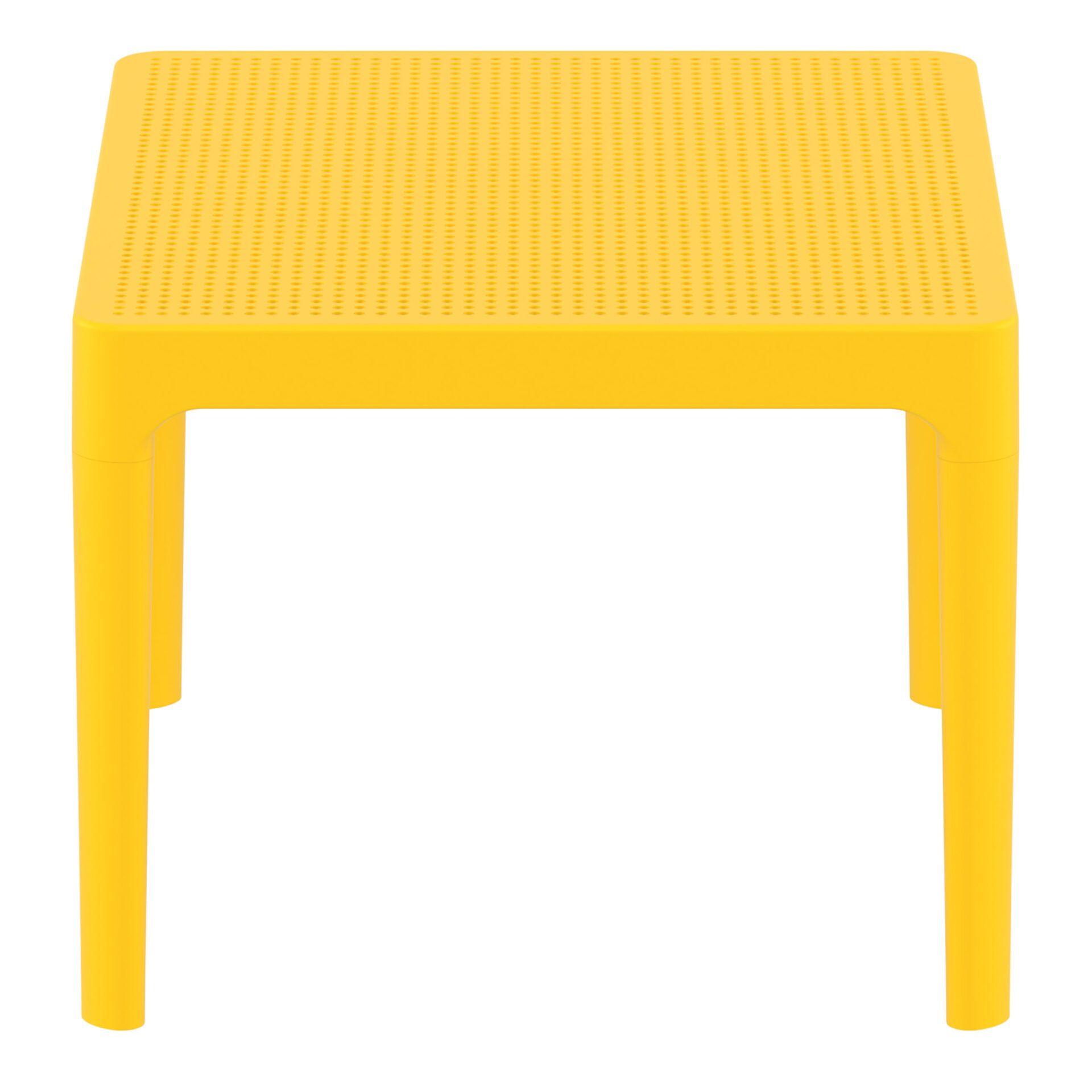 polypropylene outdoor sky side table yellow short edge