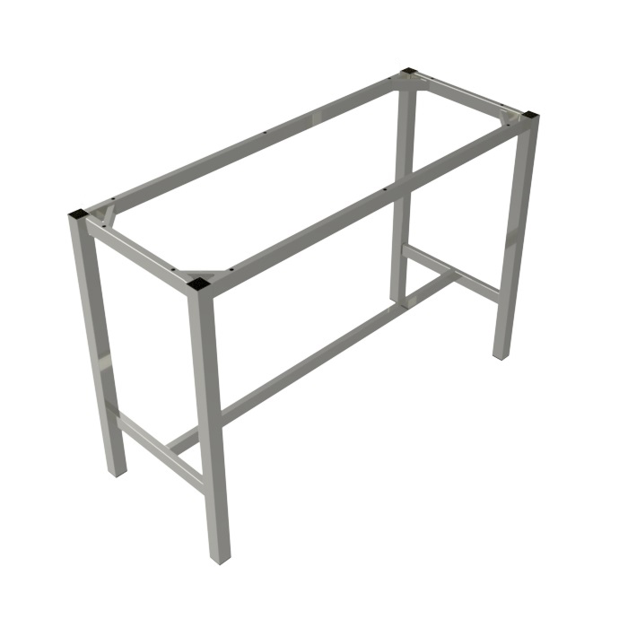 preston table dry bar silver rectangle